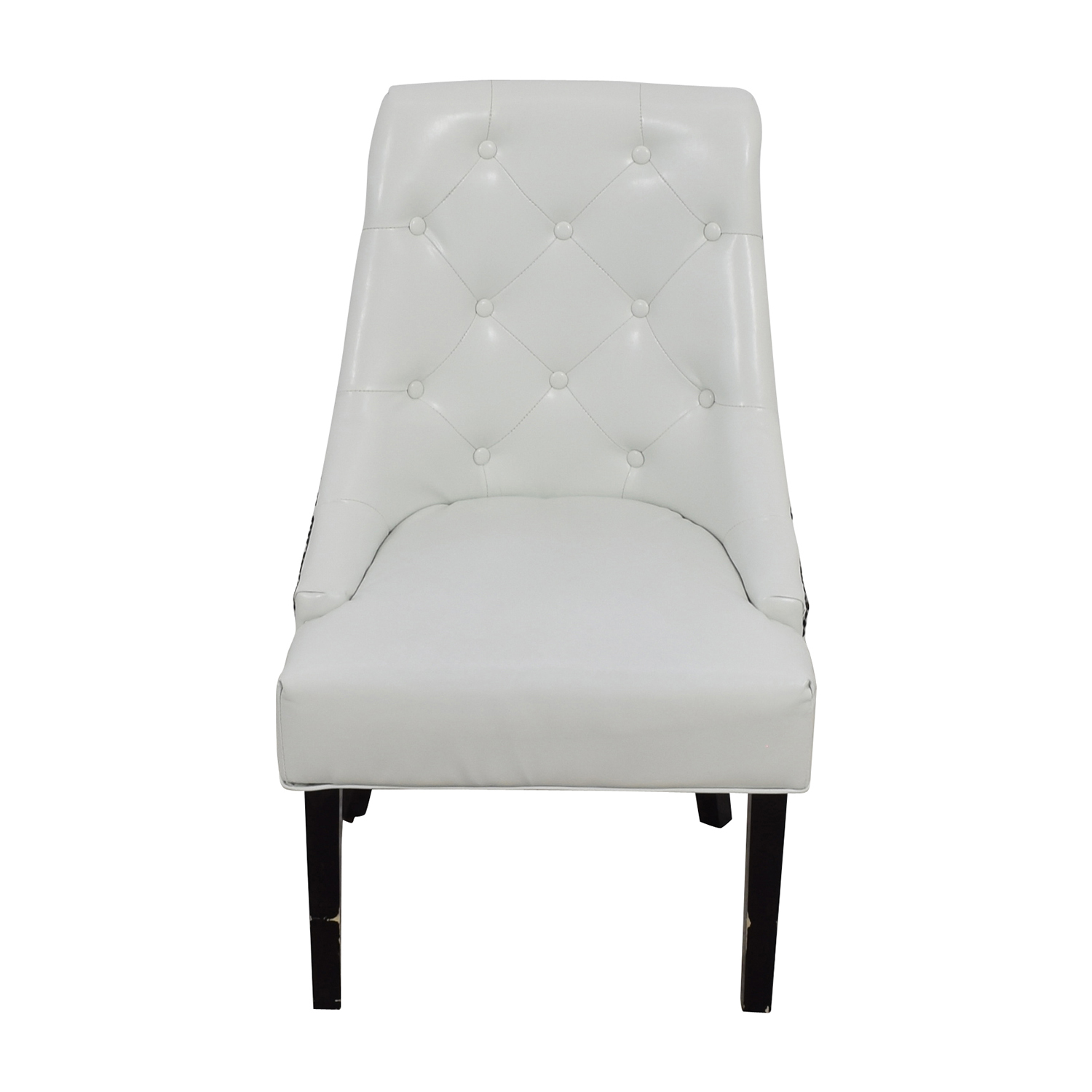shop White Leather Accent Chair Accent Chairs