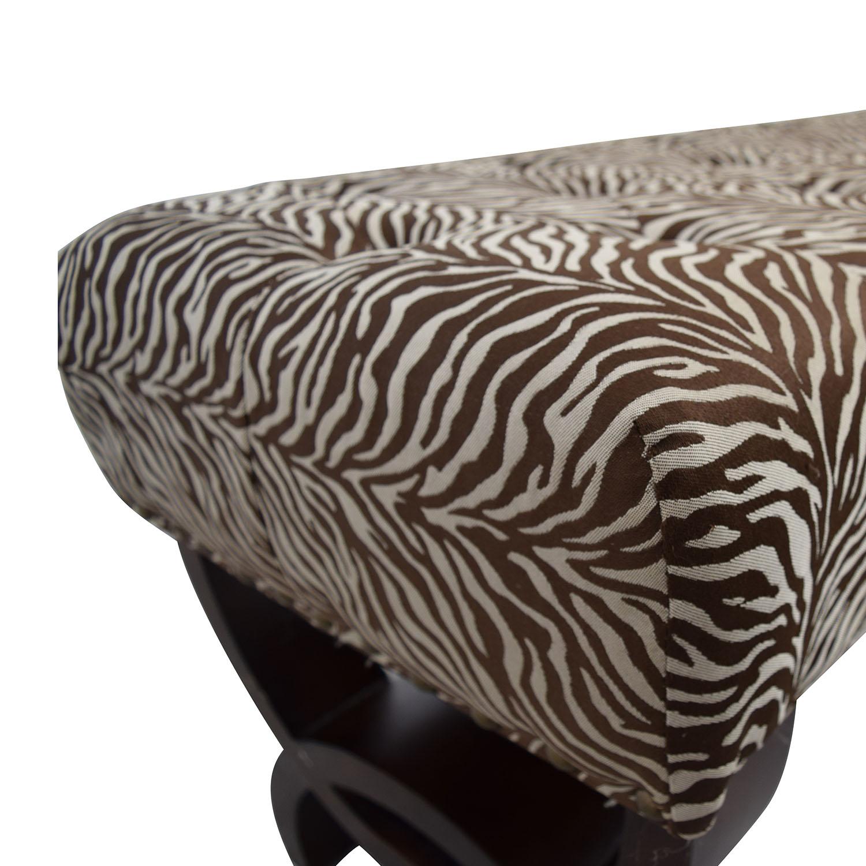 Zebra Print Decorative Bench used