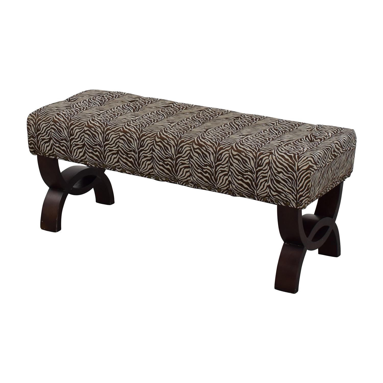 shop Zebra Print Decorative Bench Chairs