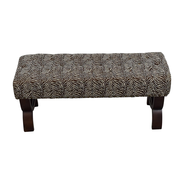 Zebra Print Decorative Bench / Chairs