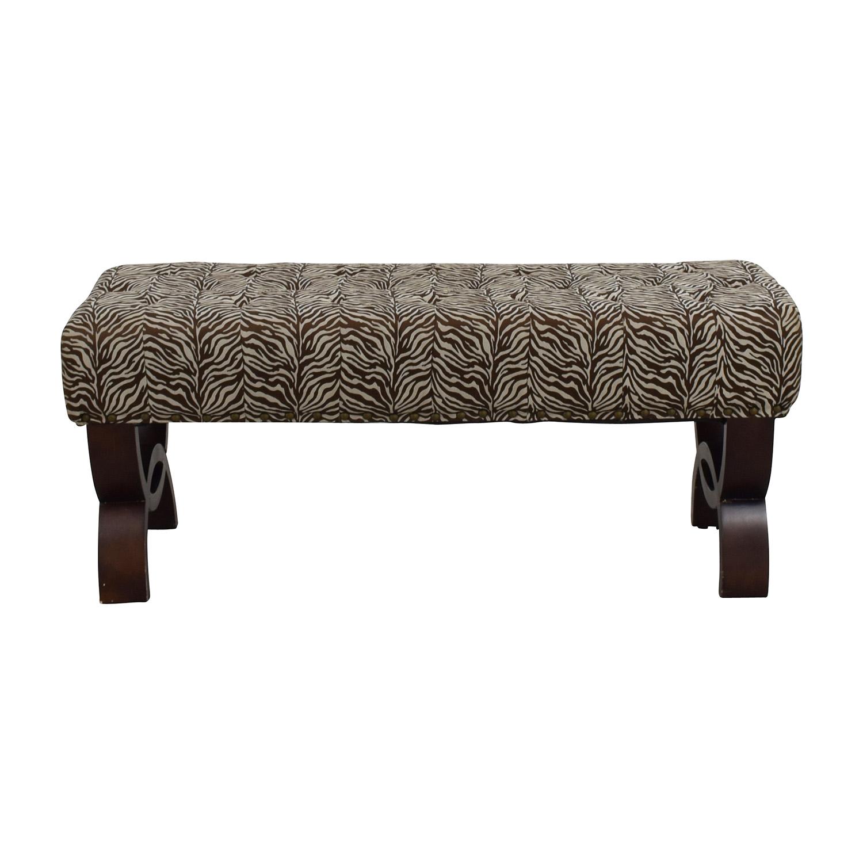 Zebra Print Decorative Bench price