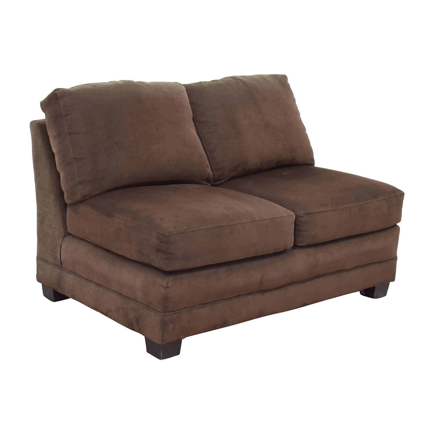 buy Crate and Barrel Crate and Barrel Brown Armless Loveseat online