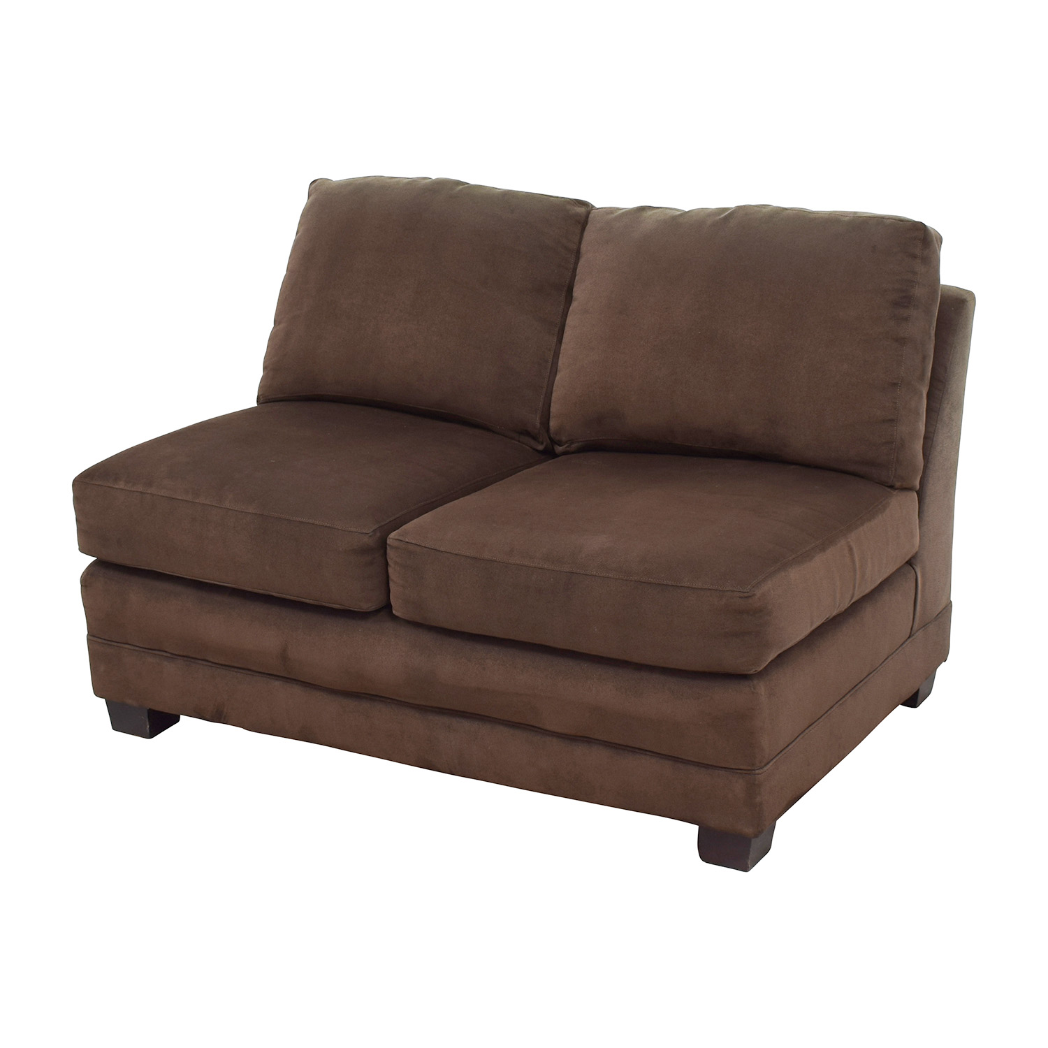 buy Crate and Barrel Brown Armless Loveseat Crate and Barrel Loveseats