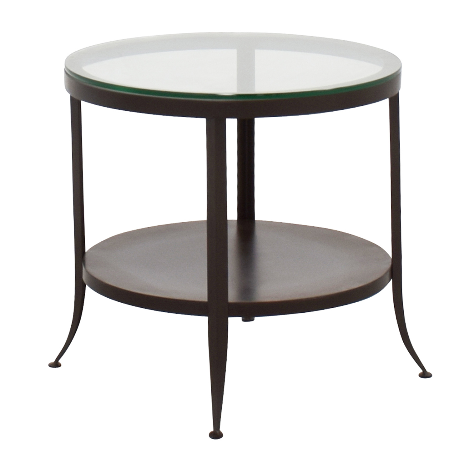 Crate and Barrel Crate & Barrel Round Glass Top End Table