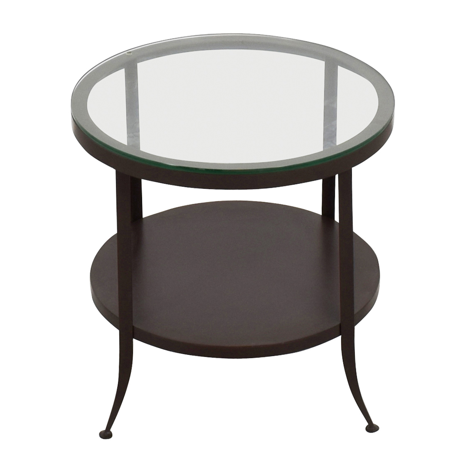 buy Crate & Barrel Round Glass Top End Table Crate and Barrel