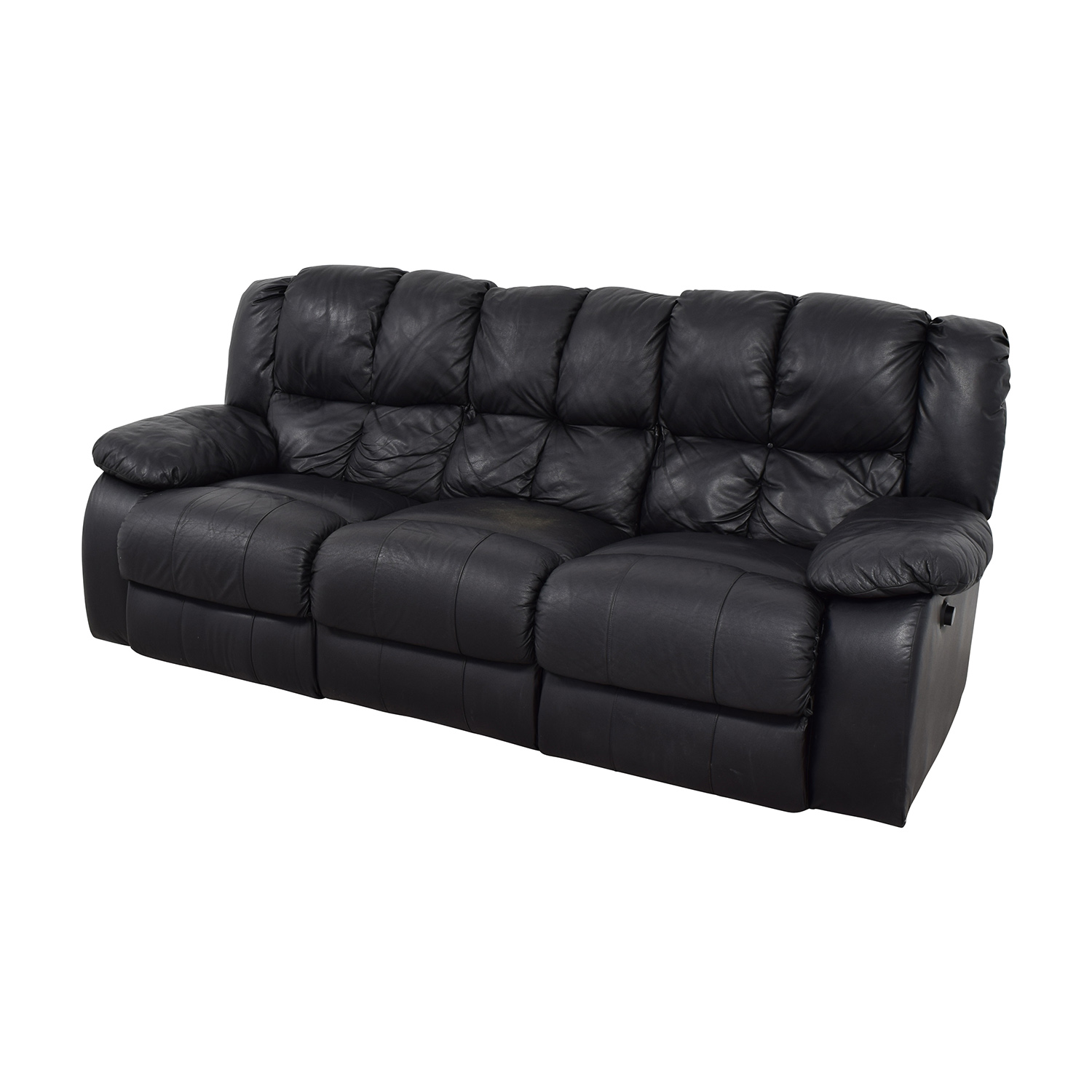 Raymour and Flanigan Raymour & Flanigan Three-Seat Leather Sofa discount