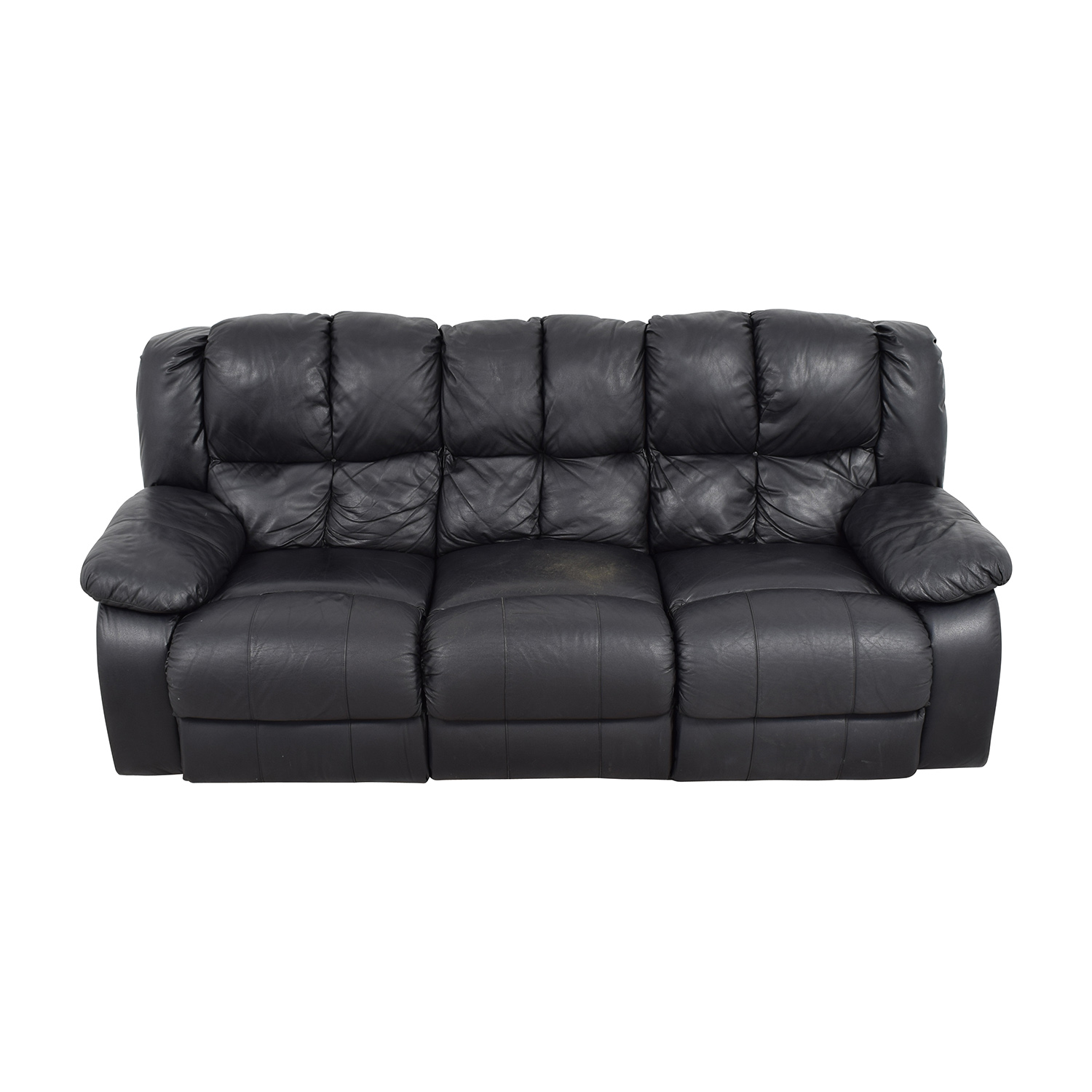 Raymour and Flanigan Raymour & Flanigan Three-Seat Leather Sofa Sofas