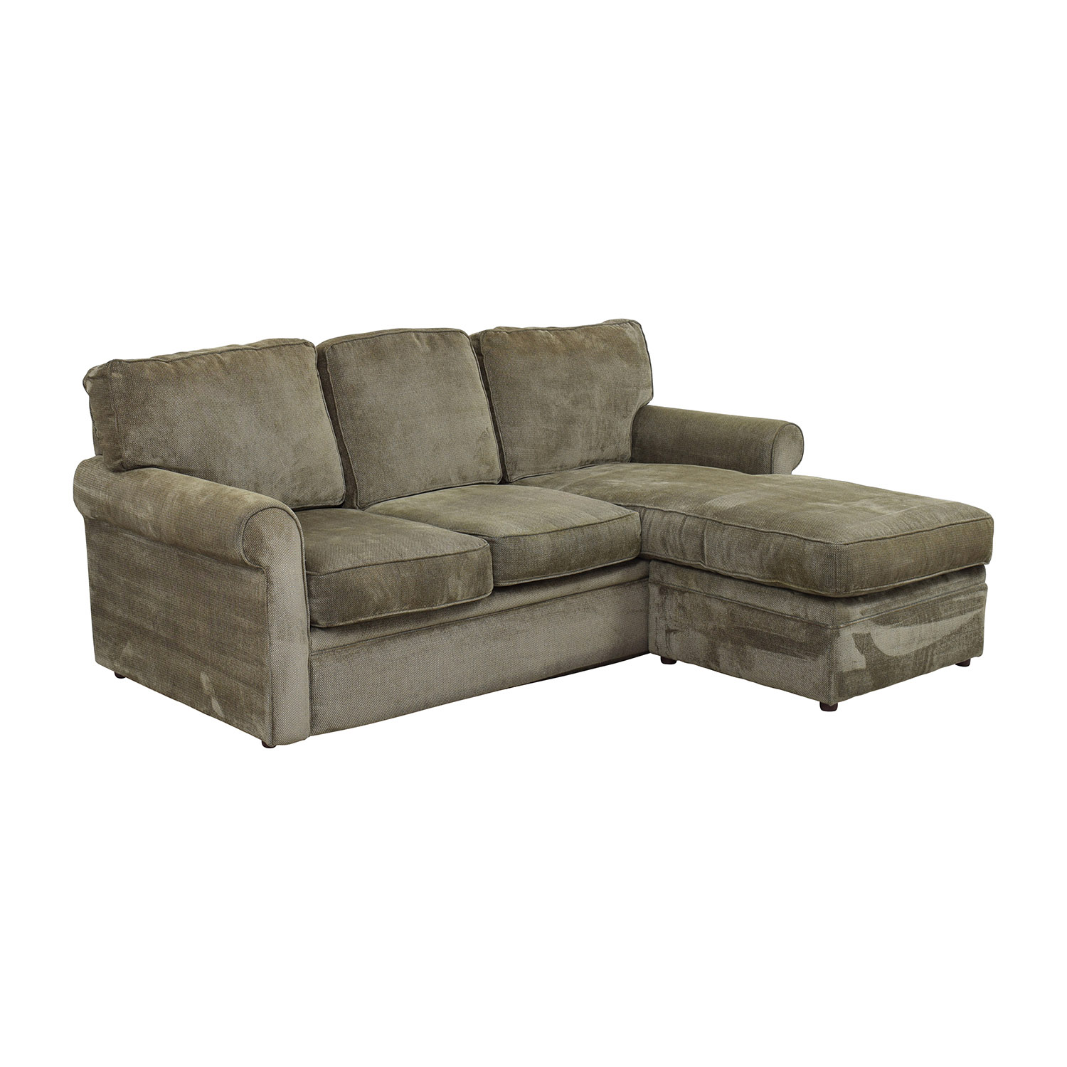 Rowe Furniture Rowe Furniture Green Sectional with Curved Arms dimensions