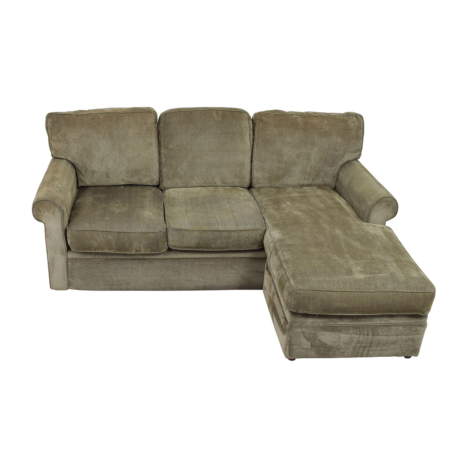 buy Rowe Furniture Green Sectional with Curved Arms Rowe Furniture Sectionals