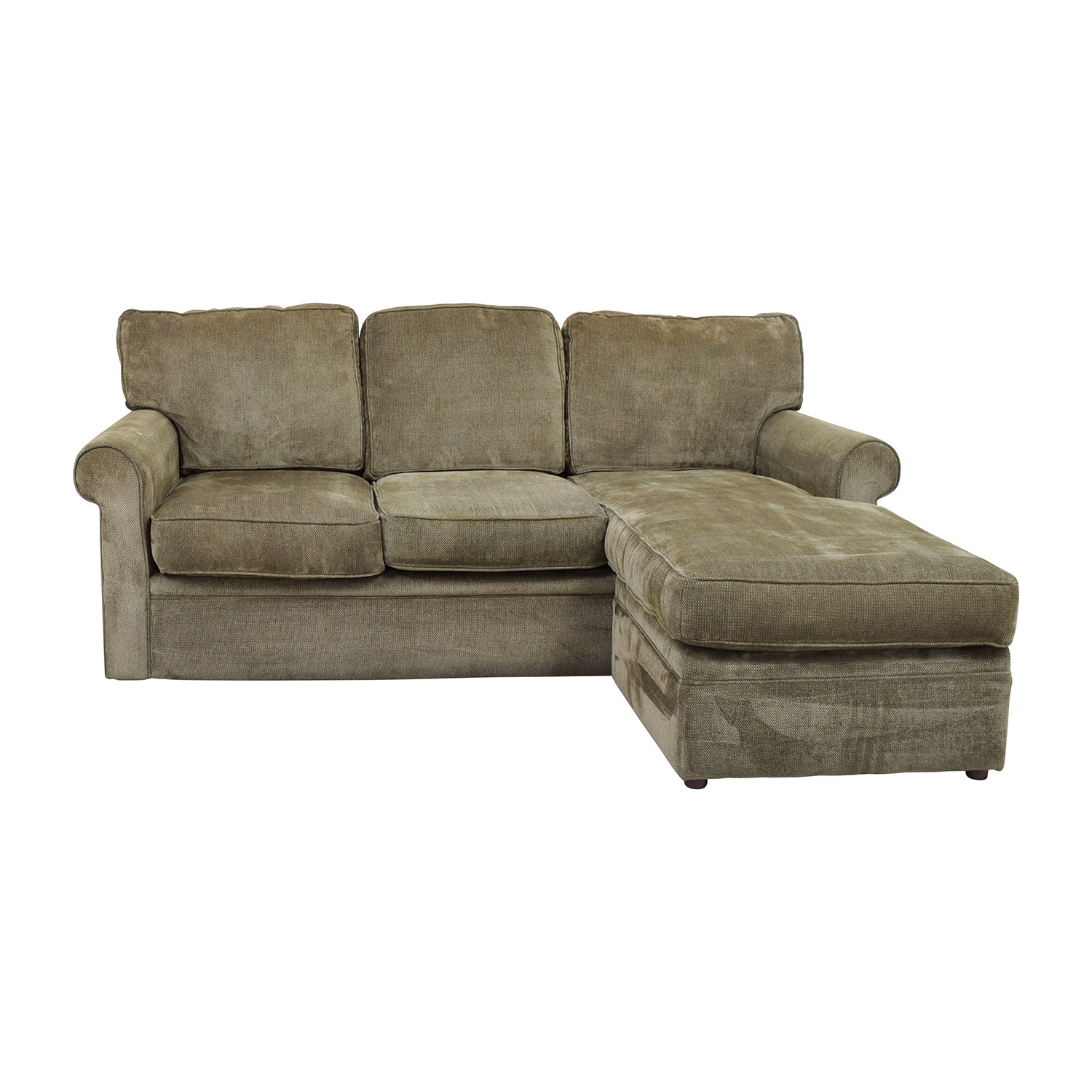 67% OFF - Rowe Furniture Rowe Furniture Green Sectional with Curved ...