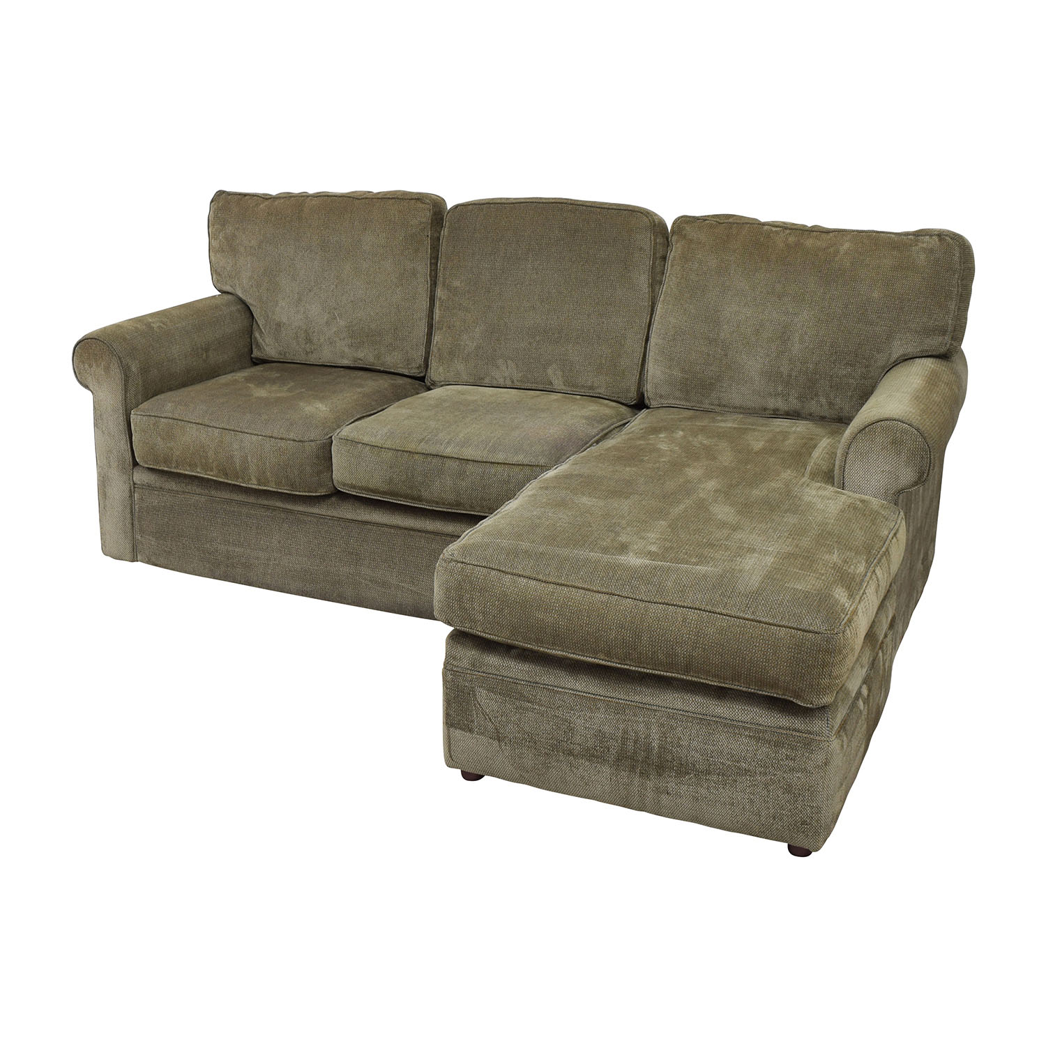 Rowe Furniture Rowe Furniture Green Sectional with Curved Arms nj