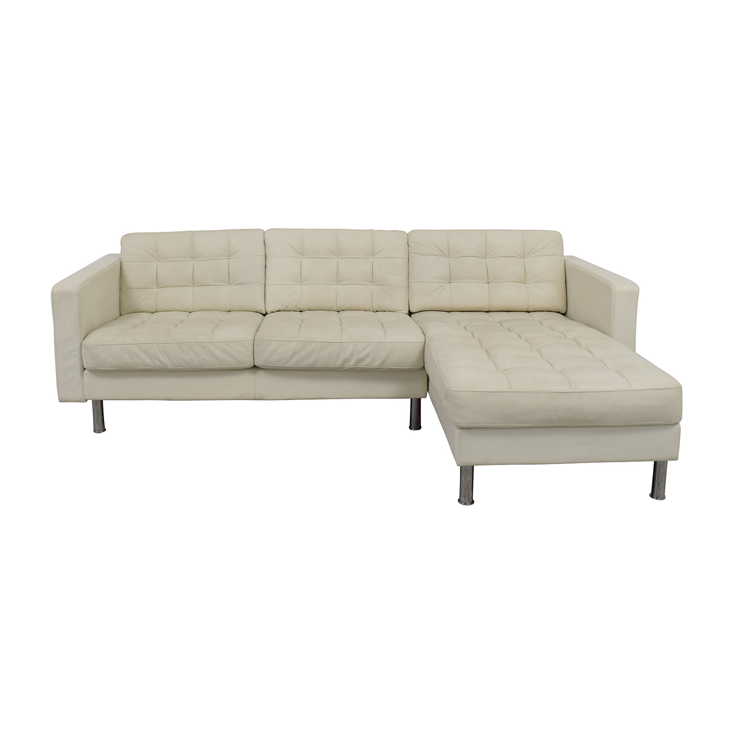 69% OFF - IKEA IKEA Landskrona Leather Sectional / Sofas