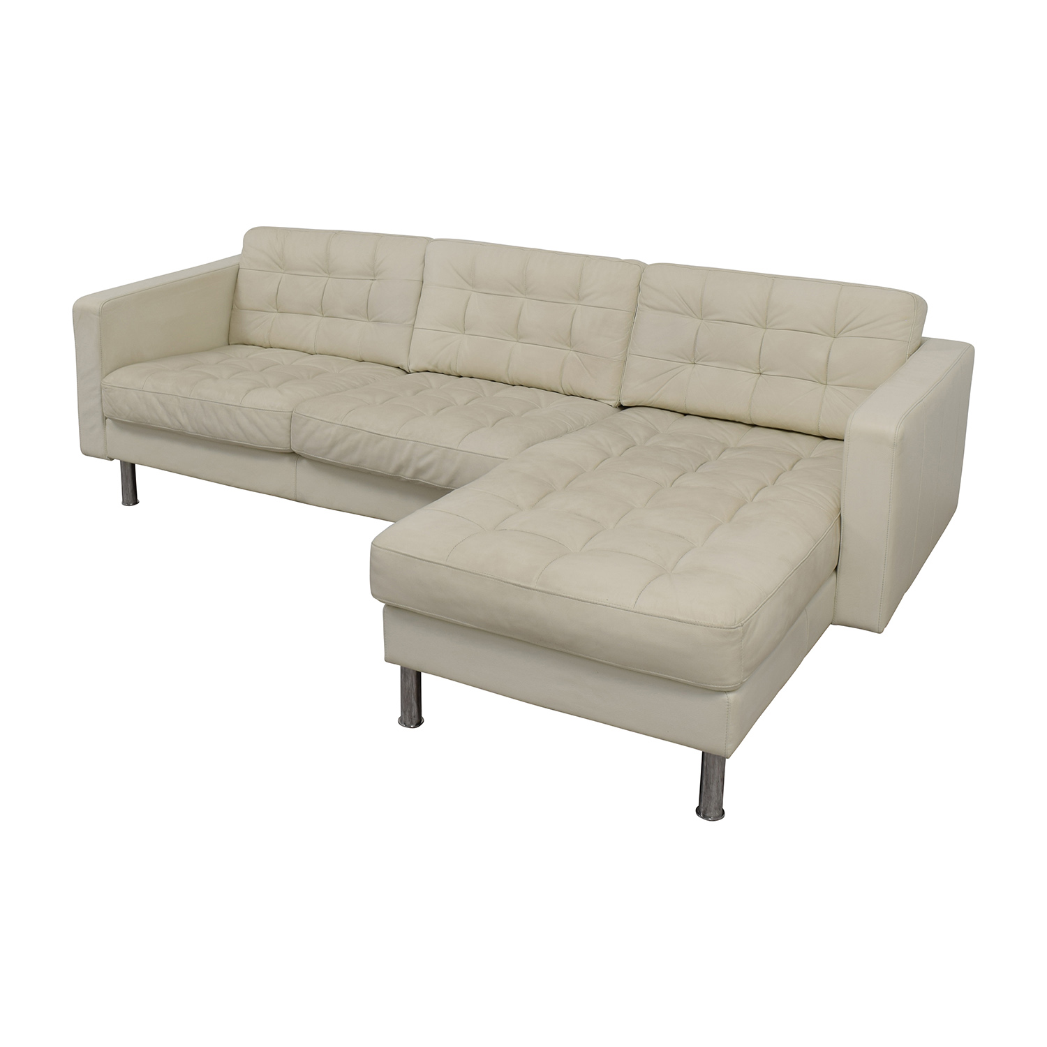 69 Off Ikea Ikea Landskrona Leather Sectional Sofas