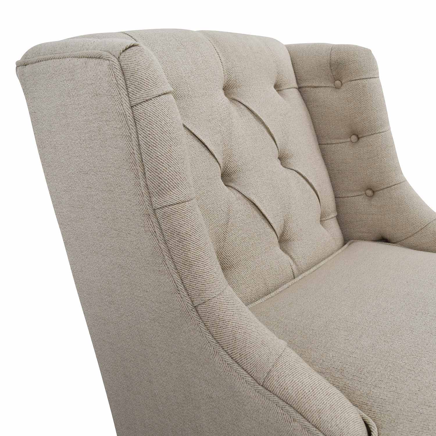 buy Madison Park Tufted Beige Arm Chair Madison Park Chairs