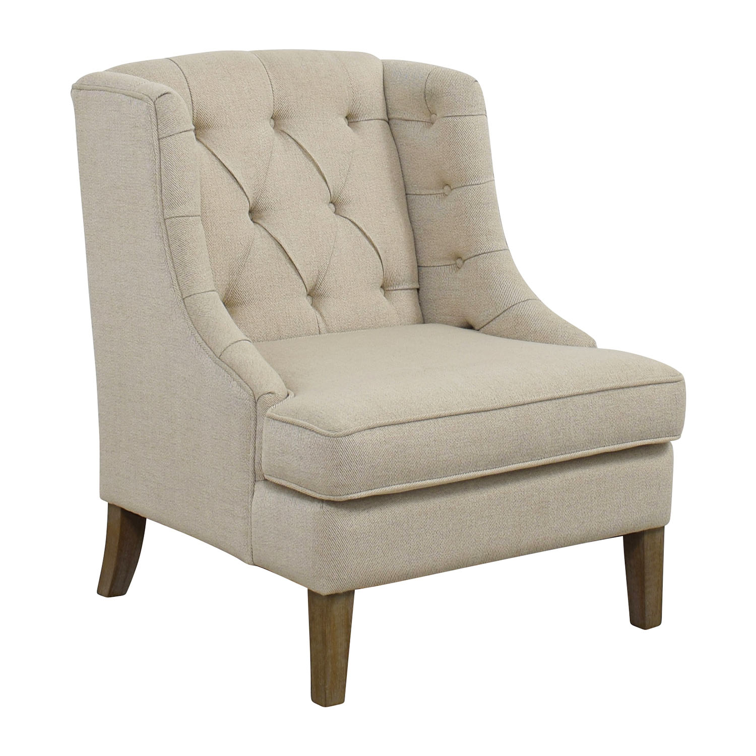 Madison Park Madison Park Tufted Beige Arm Chair second hand