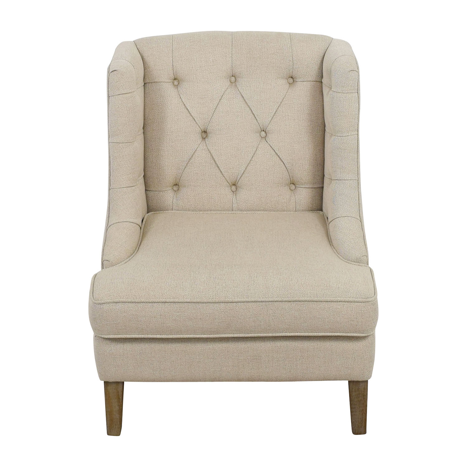 Madison Park Madison Park Tufted Beige Arm Chair Chairs
