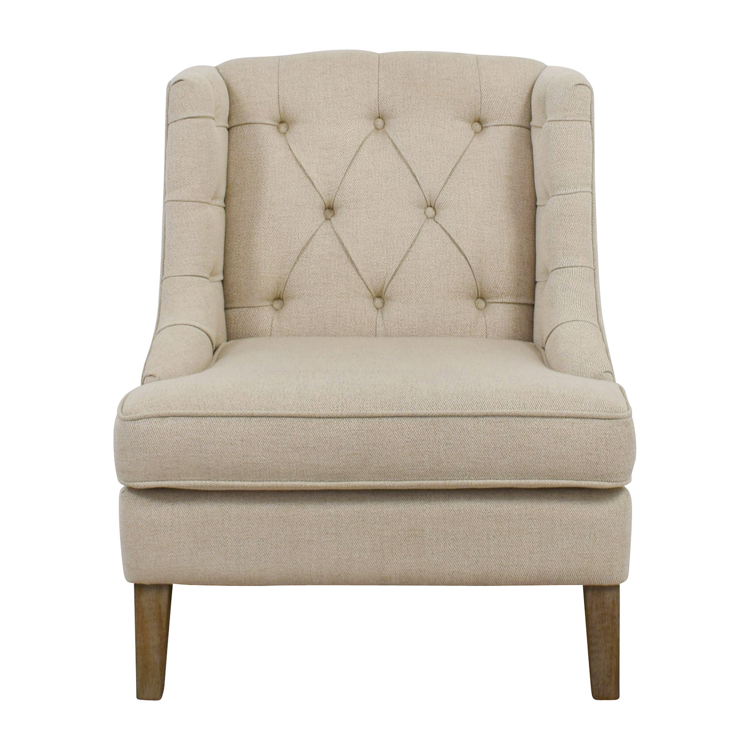 shop Madison Park Tufted Beige Arm Chair Madison Park