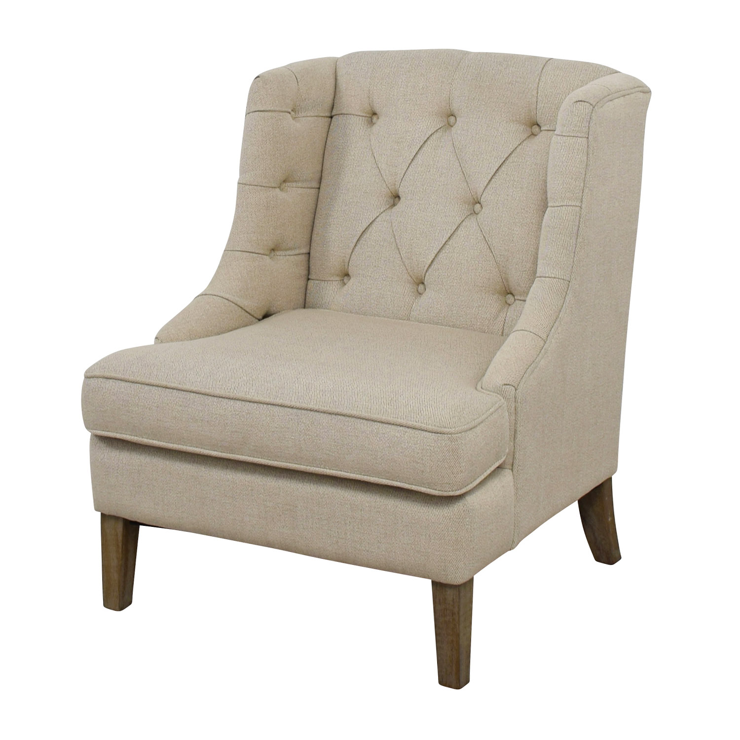 Madison Park Tufted Beige Arm Chair / Chairs