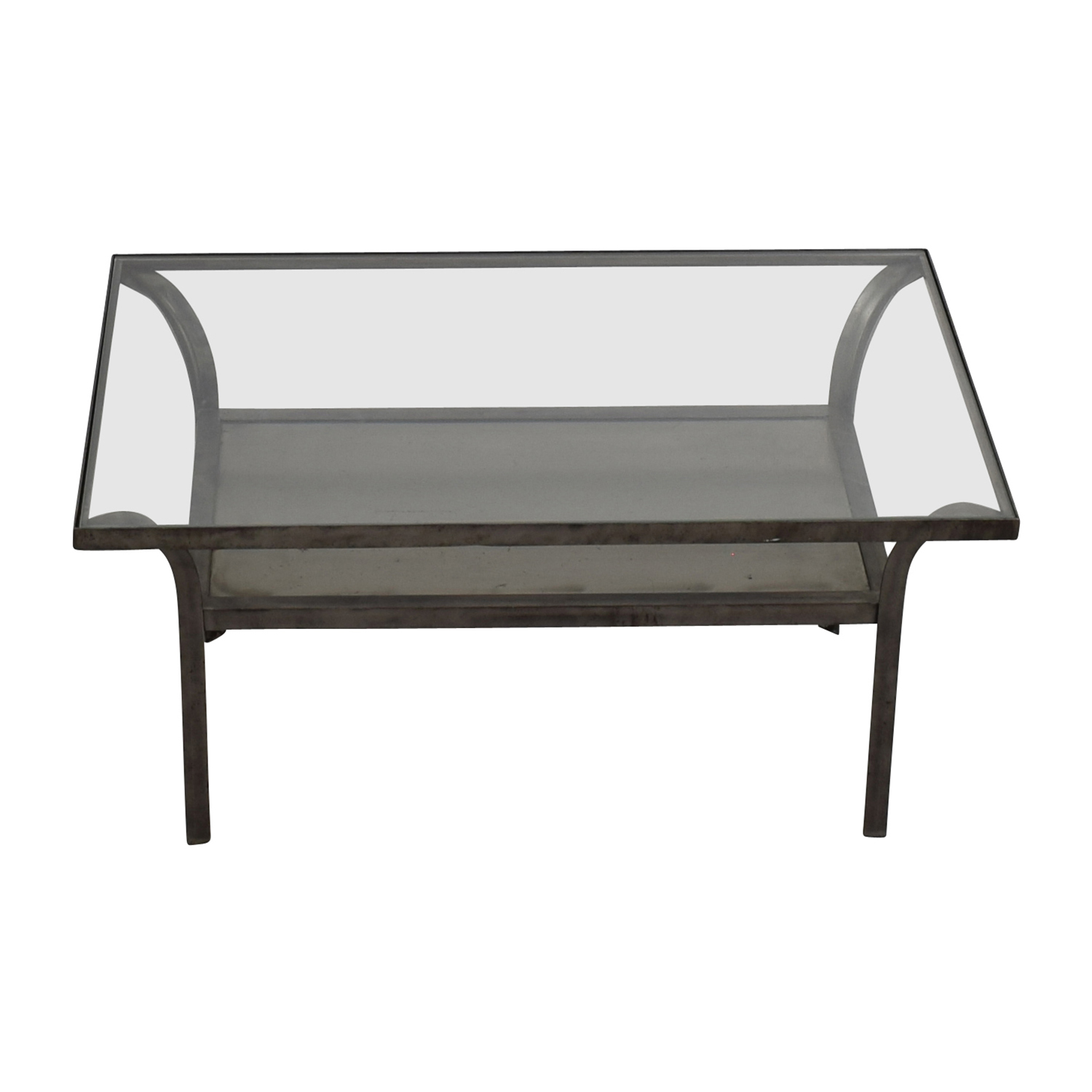 Crate and Barrel Crate and Barrel Metal and Glass Coffee Table Tables