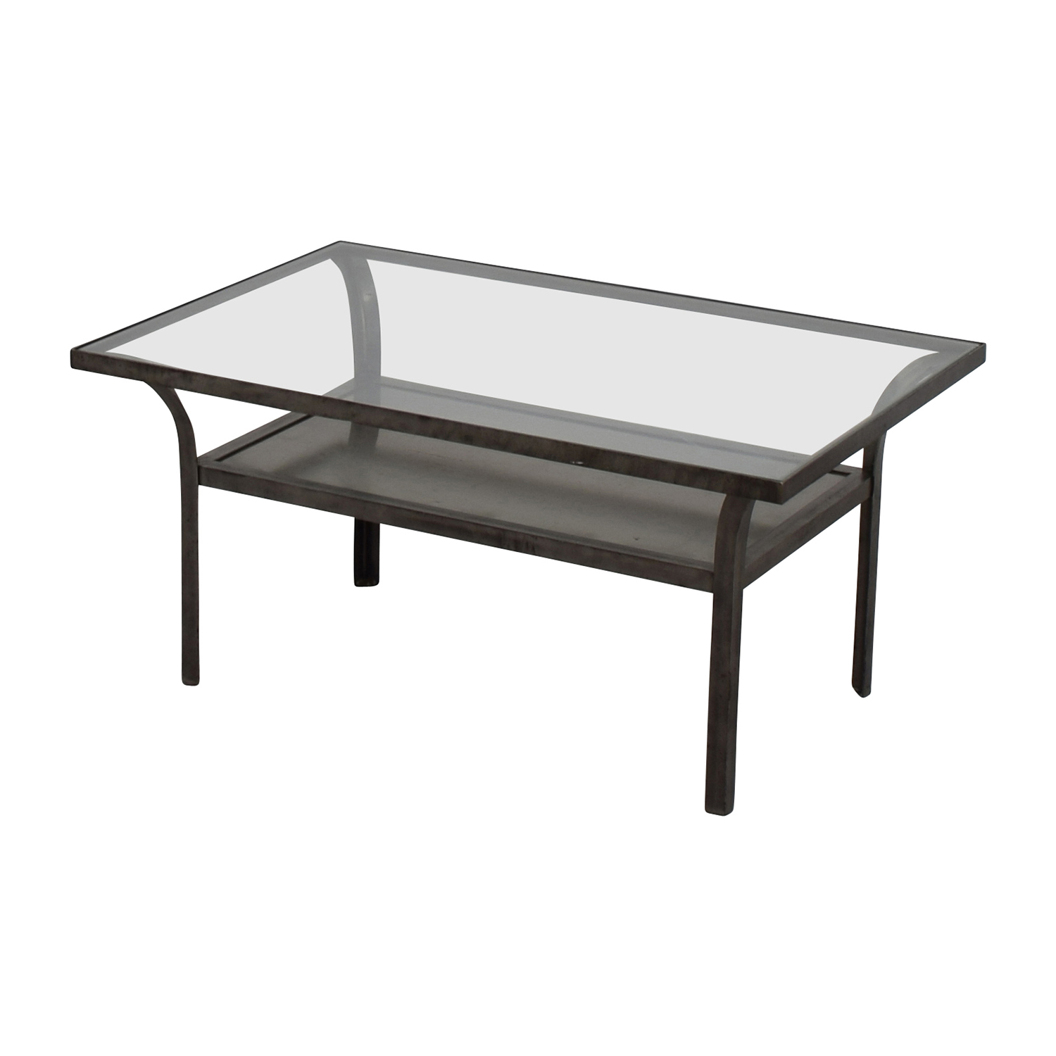 90 off crate and barrel crate and barrel metal and glass coffee table tables Used glass coffee table