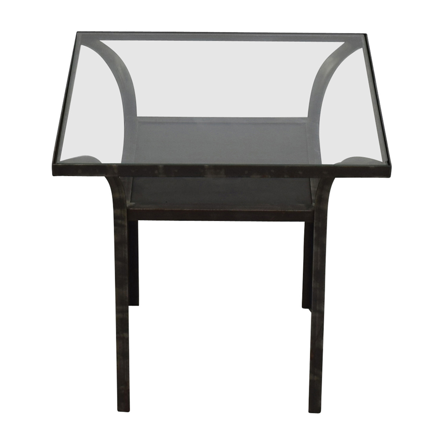 Crate & Barrel Crate & Barrel Glass End Table price