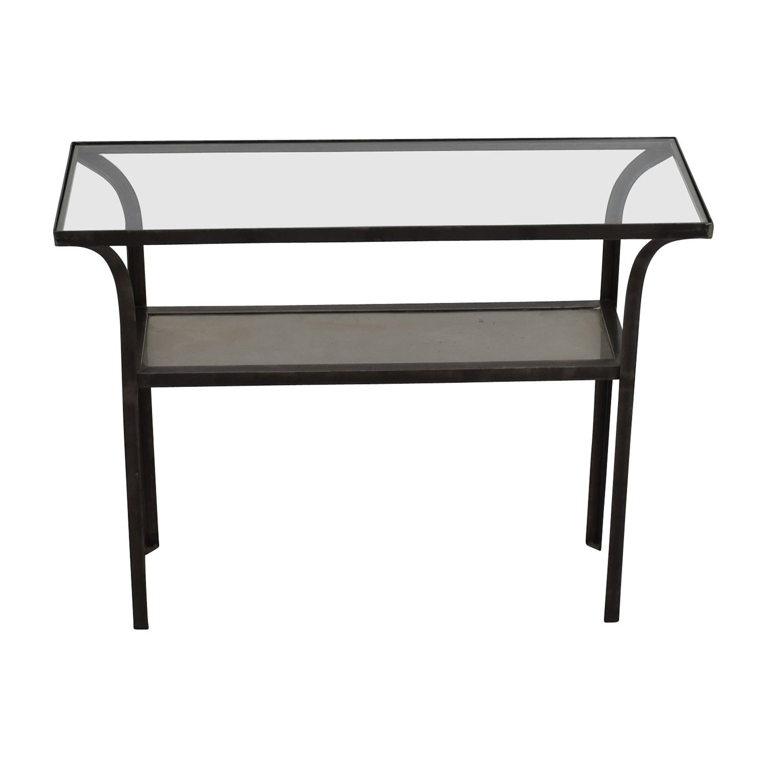 Crate and Barrel Crate & Barrel Black Glass Console Table on sale