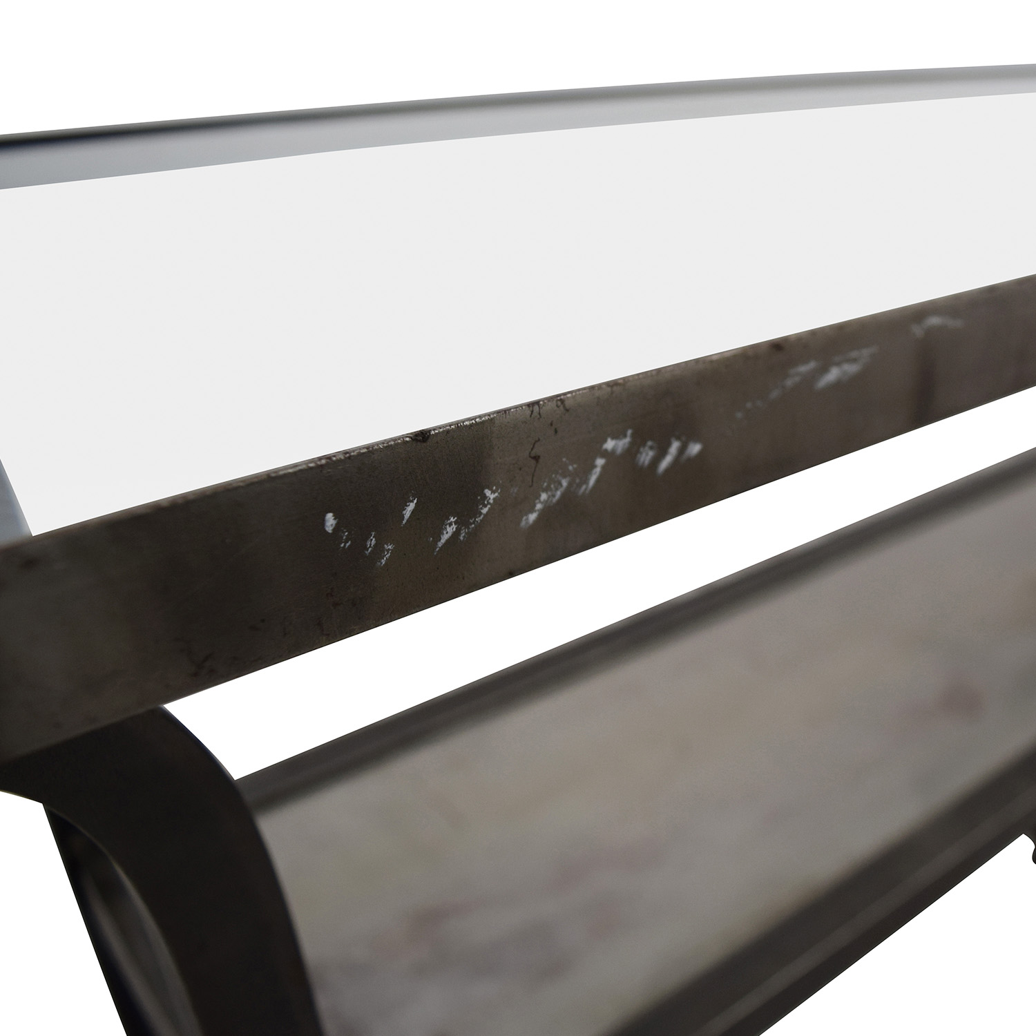 Crate & Barrel Metal and Glass Console Table / Tables