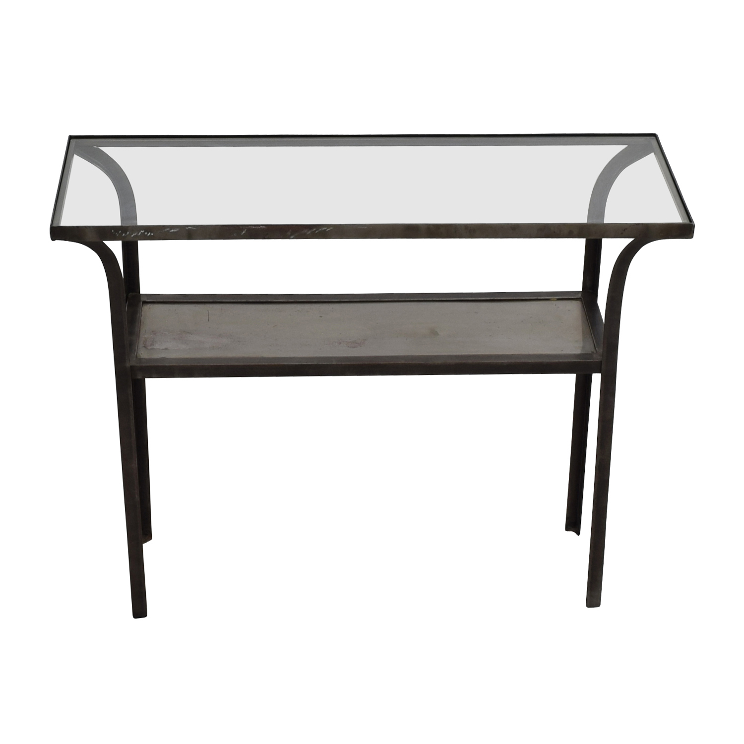 shop Crate & Barrel Crate & Barrel Metal and Glass Console Table online