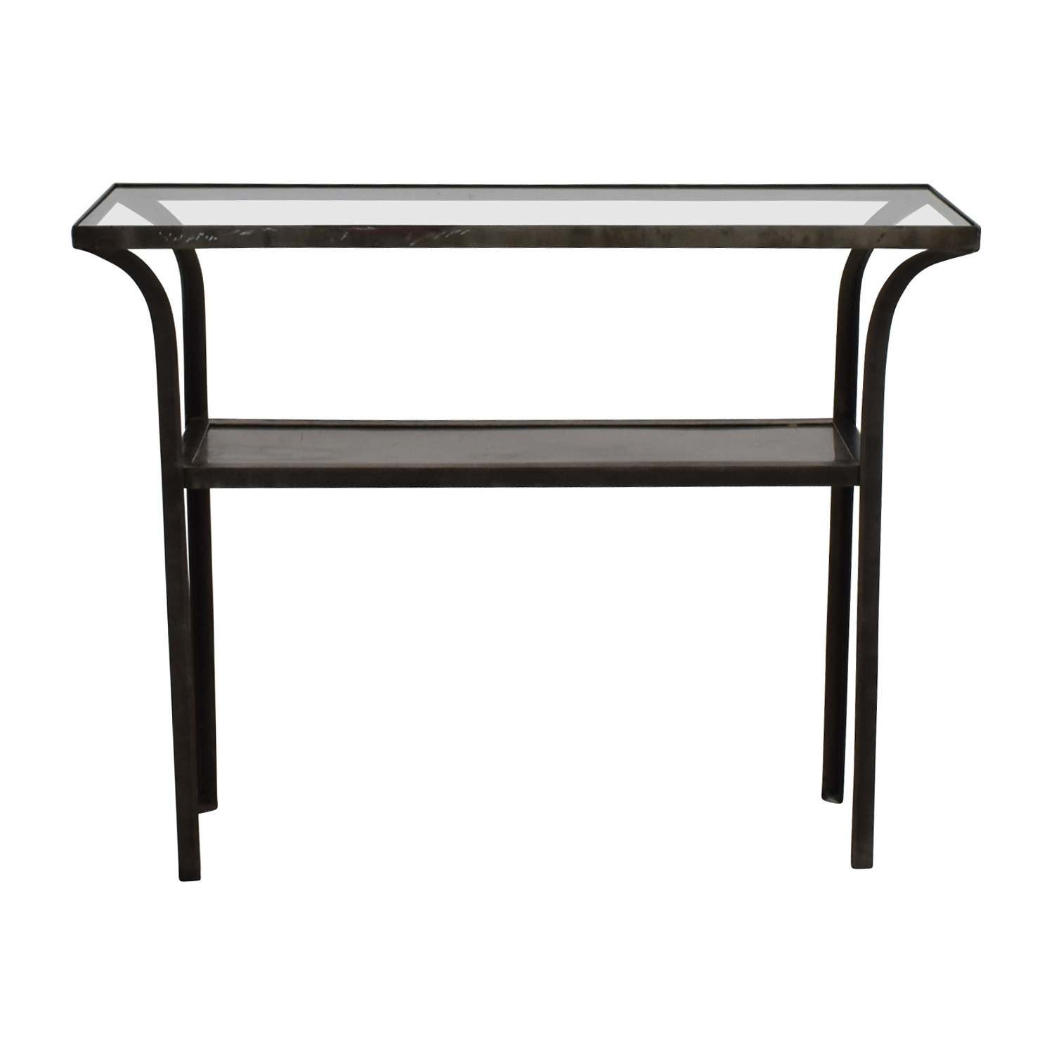 shop Crate & Barrel Metal and Glass Console Table Crate & Barrel End Tables