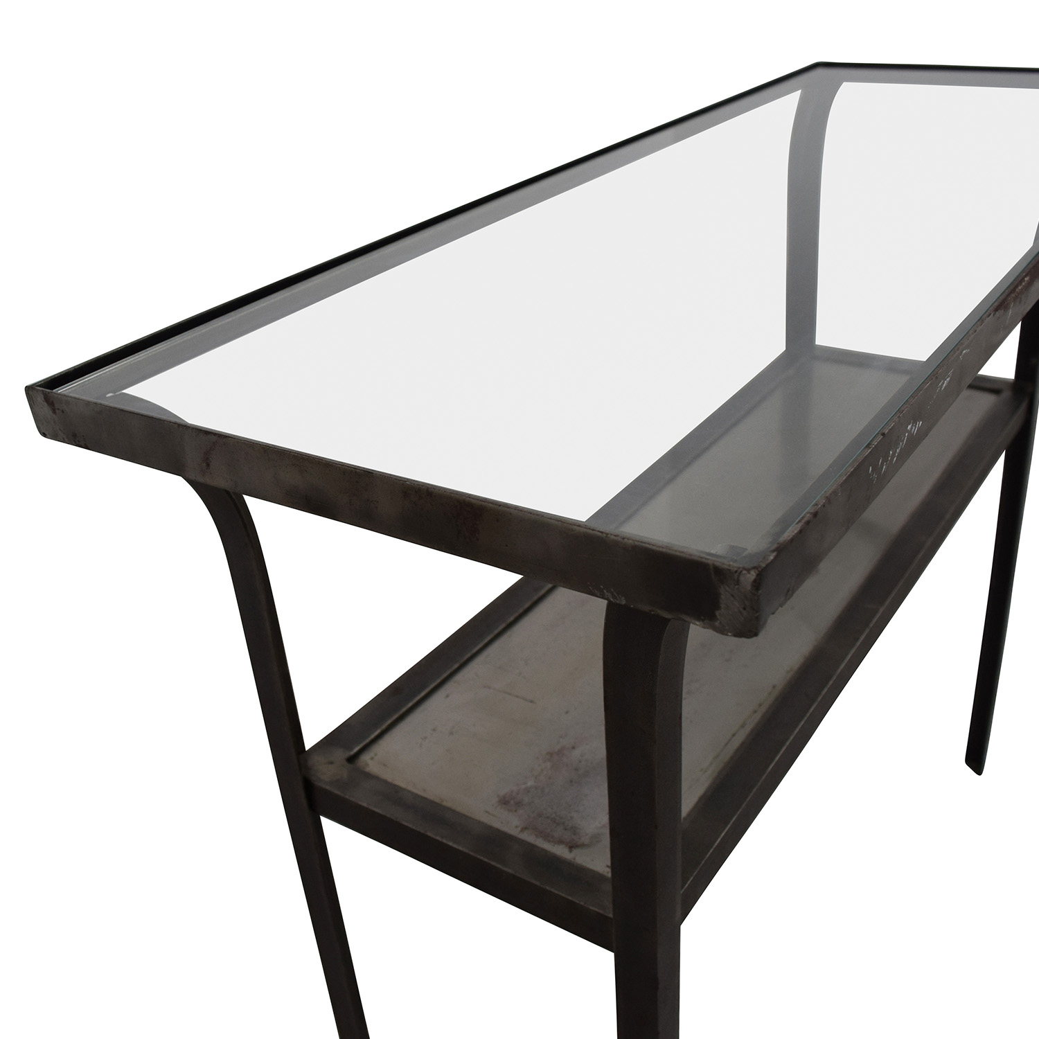 buy Crate & Barrel Crate & Barrel Metal and Glass Console Table online