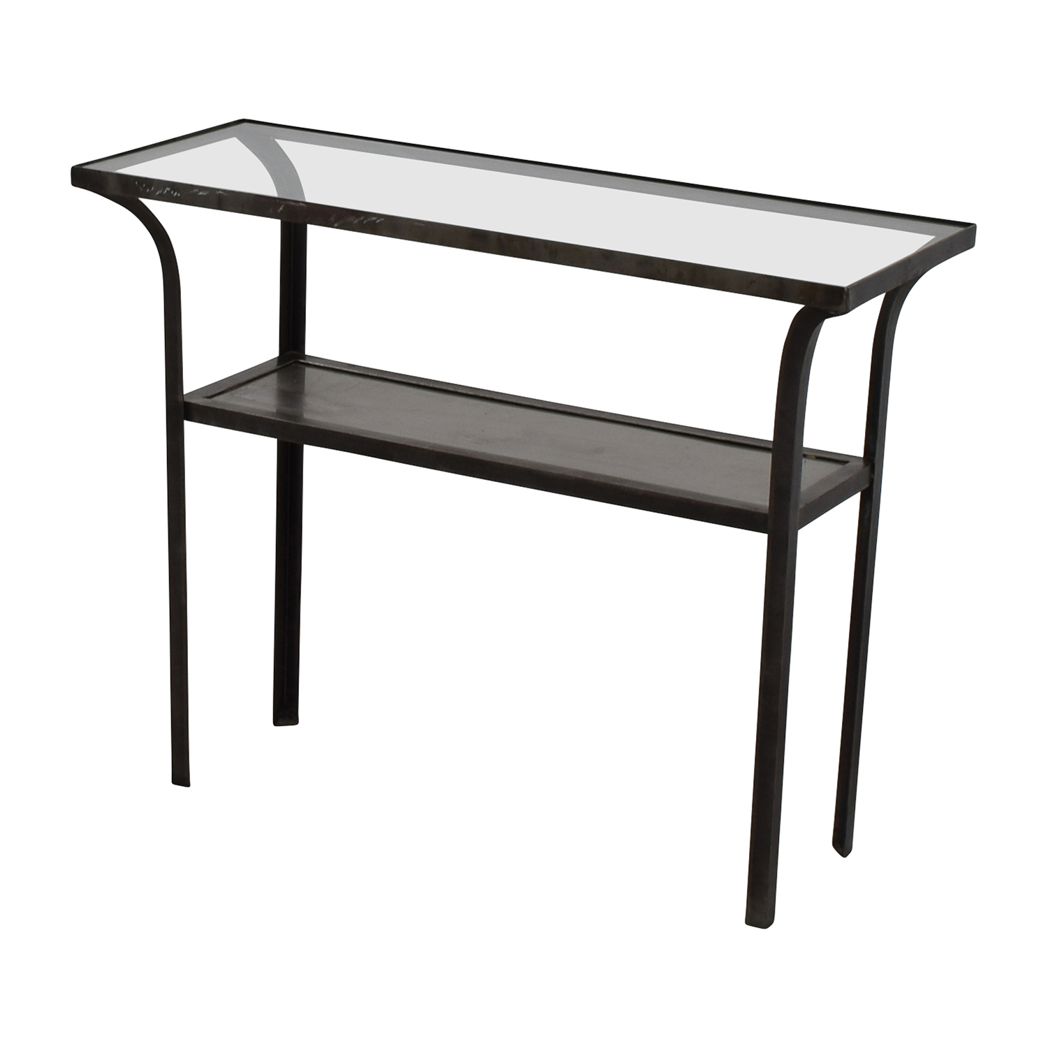 Crate & Barrel Crate & Barrel Metal and Glass Console Table dimensions