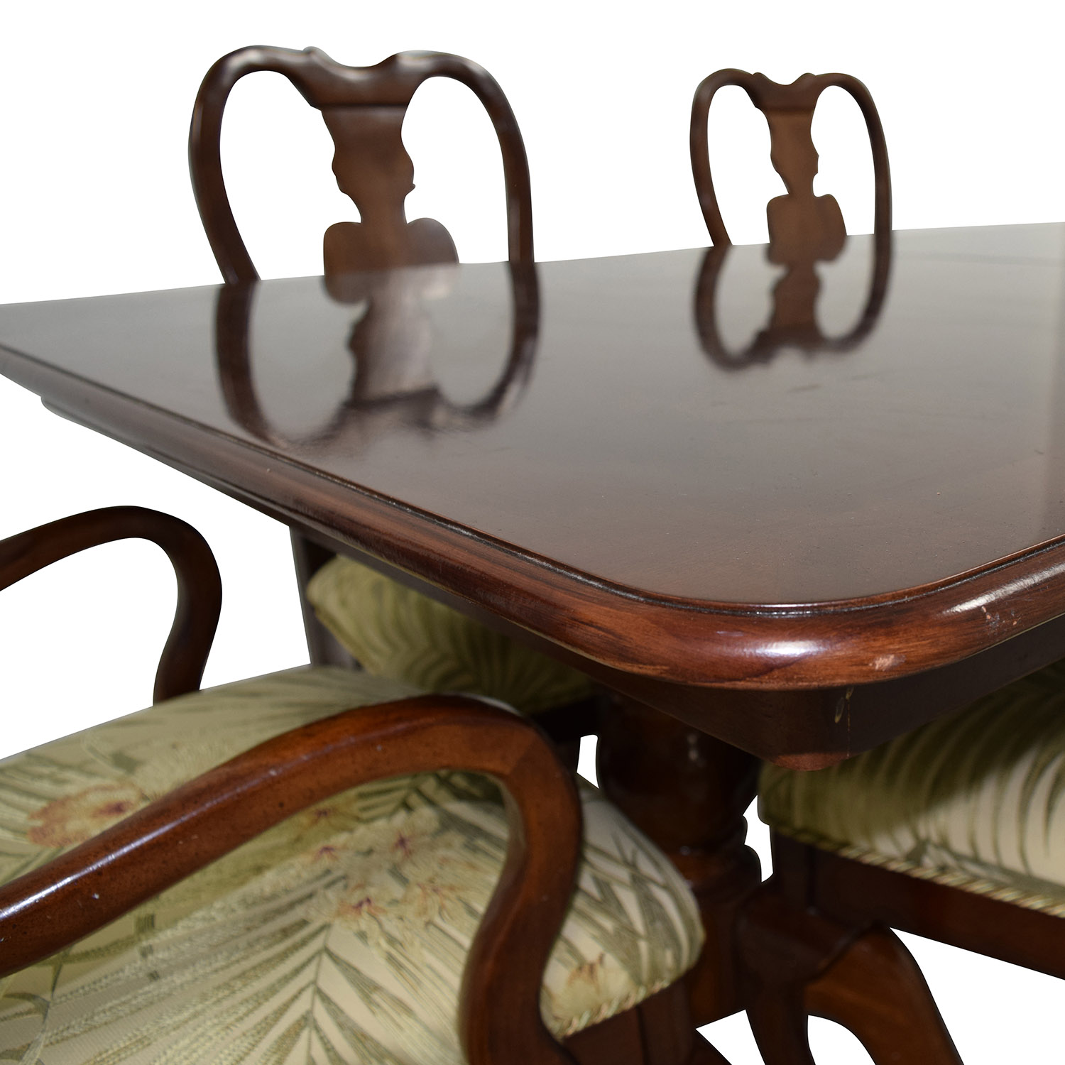 Classic Extendable Two Leaf Table with Six Chairs coupon