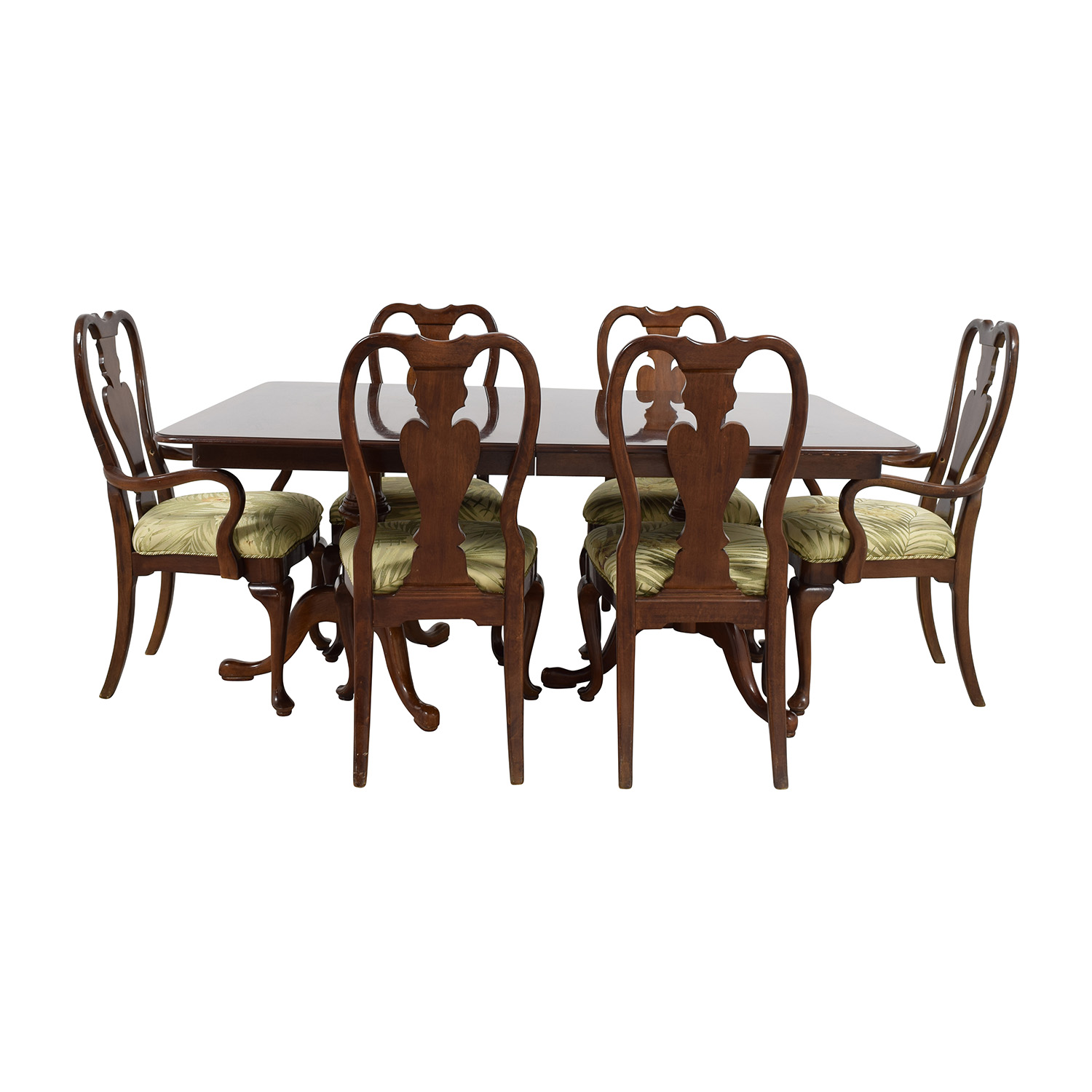 buy Classic Extendable Two Leaf Table with Six Chairs