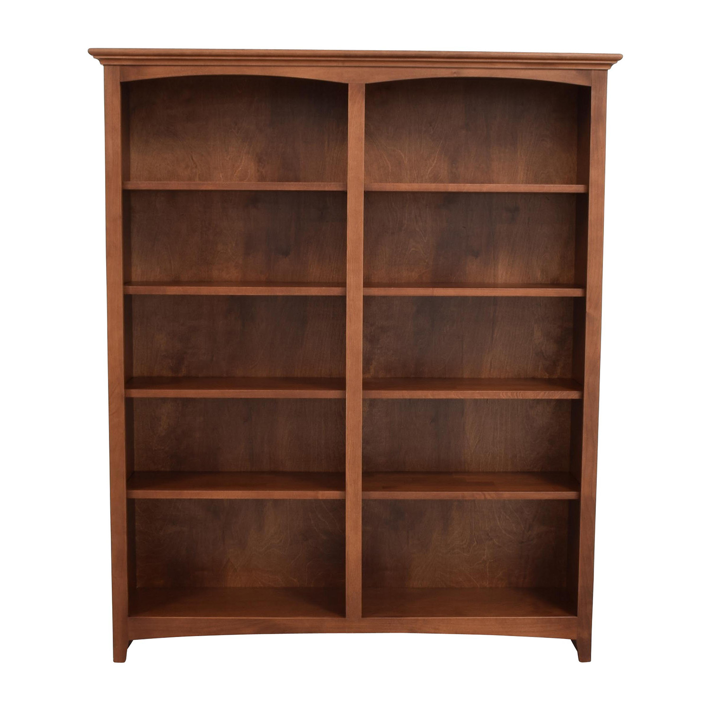 Whitter Wood Furniture Ten-Shelf Bookcase sale