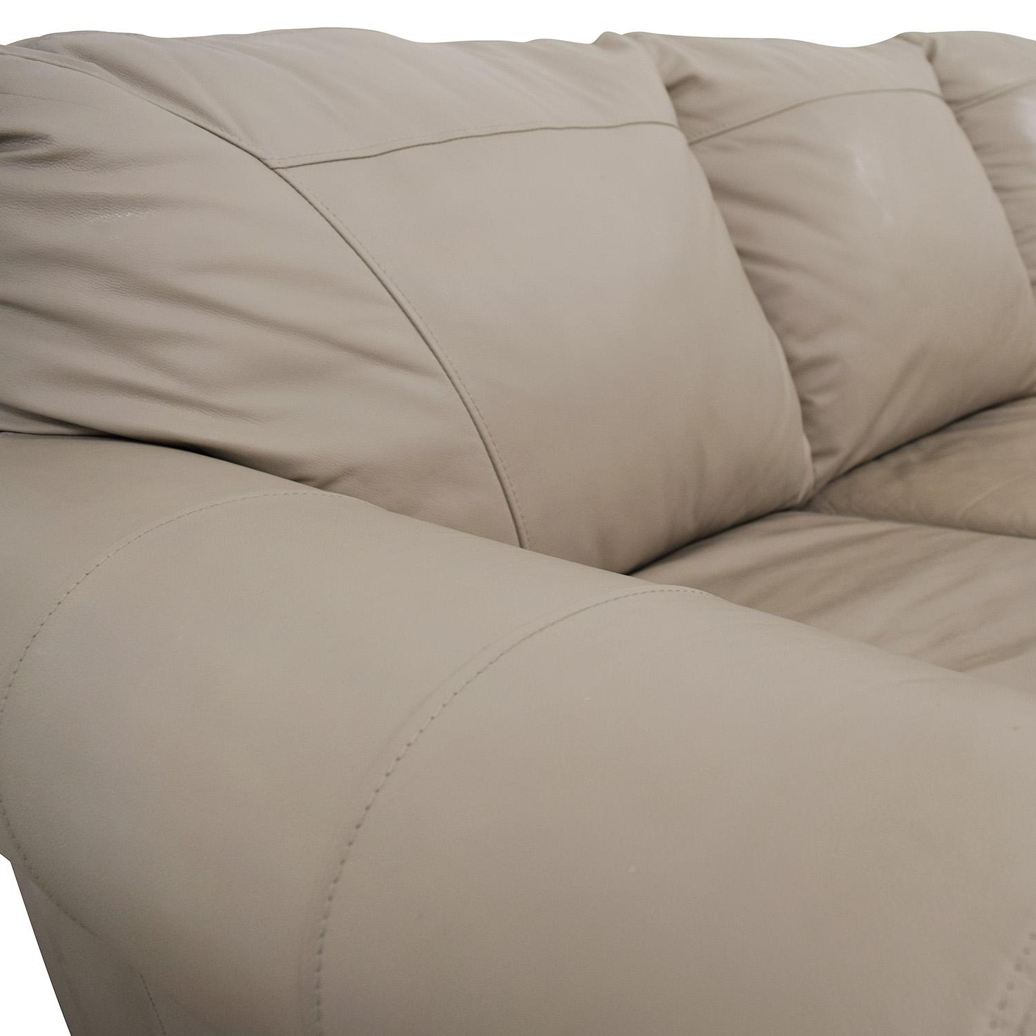 Taupe Leather Couch Classic Sofas