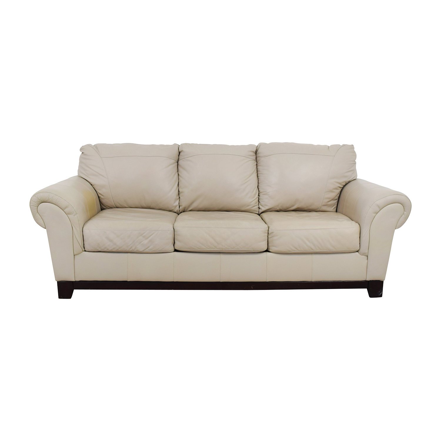 Taupe Leather Couch used