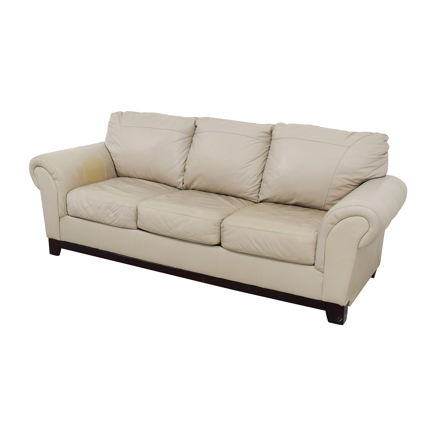 90 Off Taupe Leather Couch Sofas