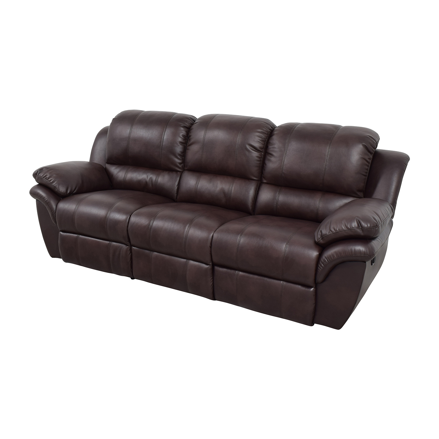 New Classic Home Furnishing New Classic Home Furnishing Leather Reclining Brown Couch Brown