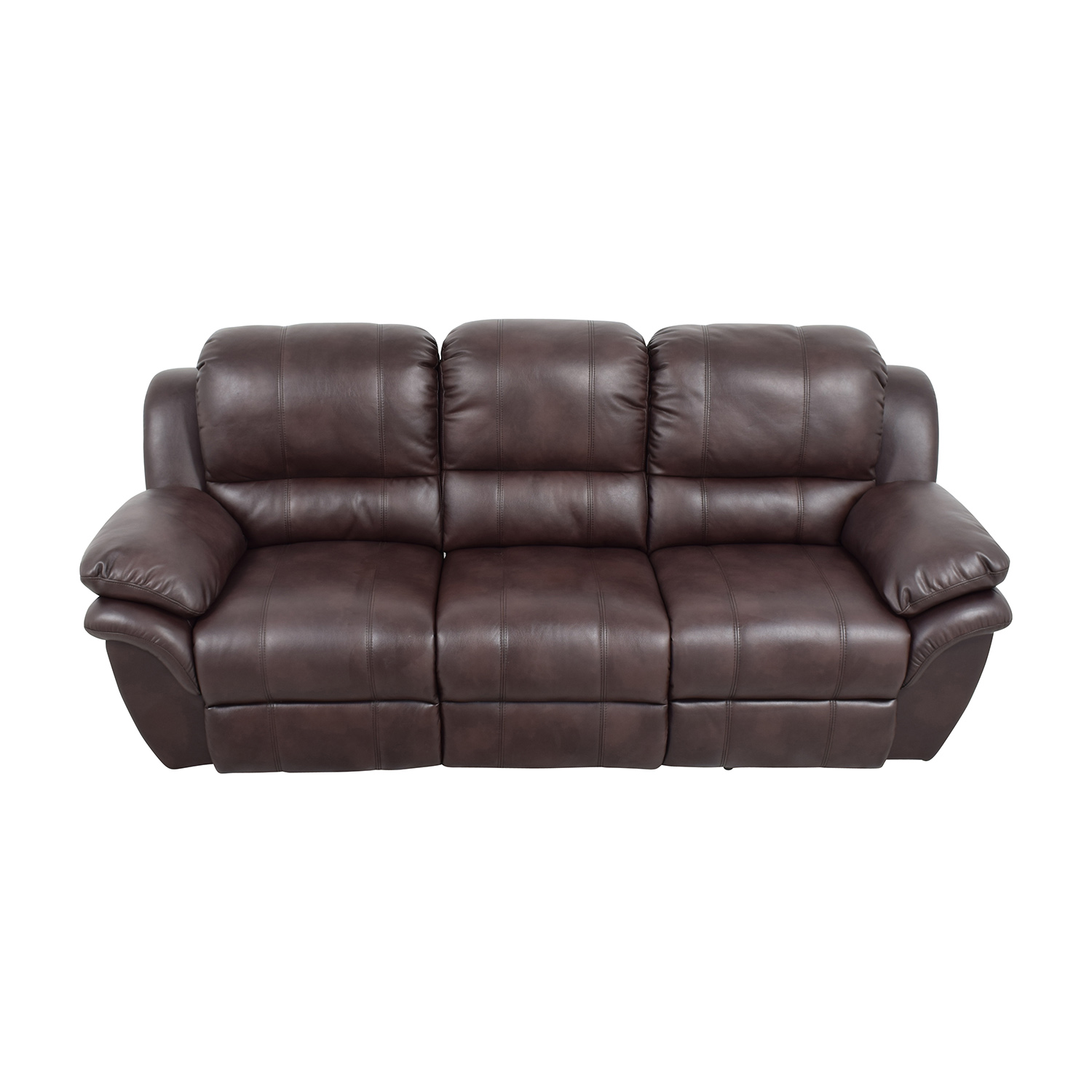 New Classic Home Furnishing New Classic Home Furnishing Leather Reclining Brown Couch used
