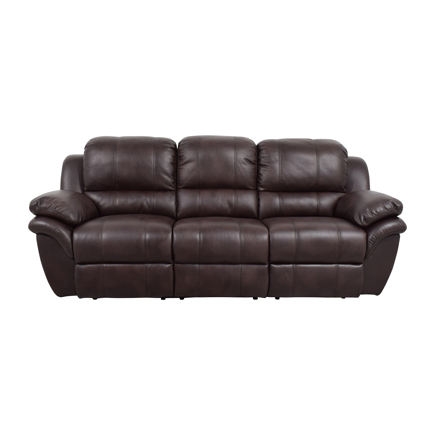 Shop New Classic Home Furnishing New Classic Home Furnishing Leather  Reclining Brown Couch Online ...
