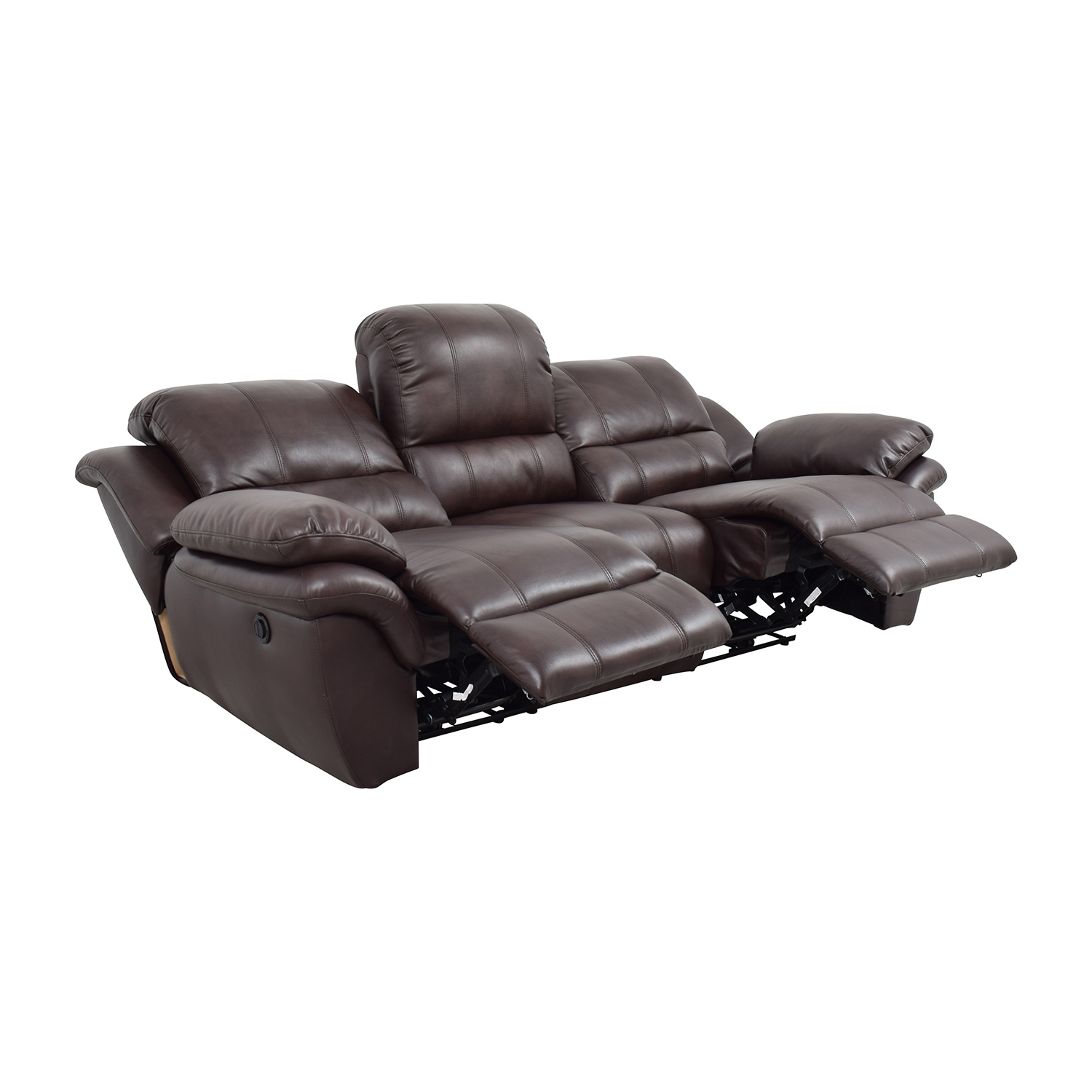New Classic Home Furnishing New Classic Home Furnishing Leather Reclining Brown Couch on sale