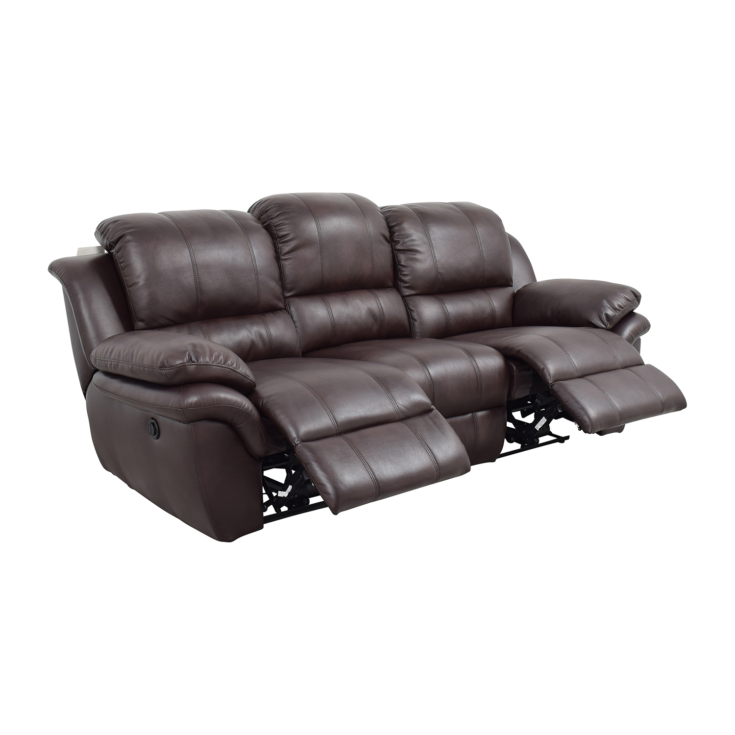 New Classic Home Furnishing New Classic Home Furnishing Leather Reclining Brown Couch coupon