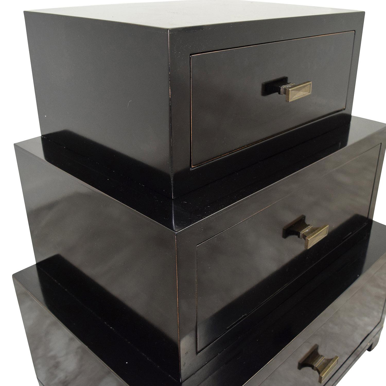 89 Off Stacked Three Drawer Dresser Storage