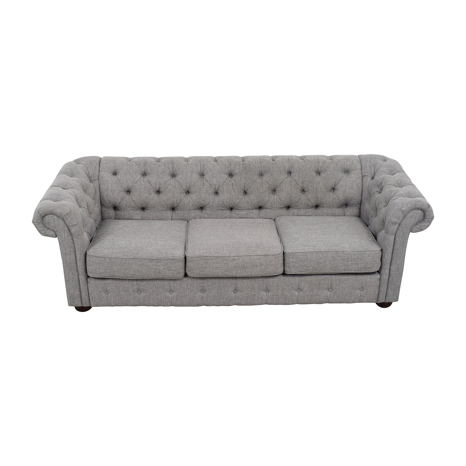 House of Hampton Augustine Tufted Chesterfield Sofa sale