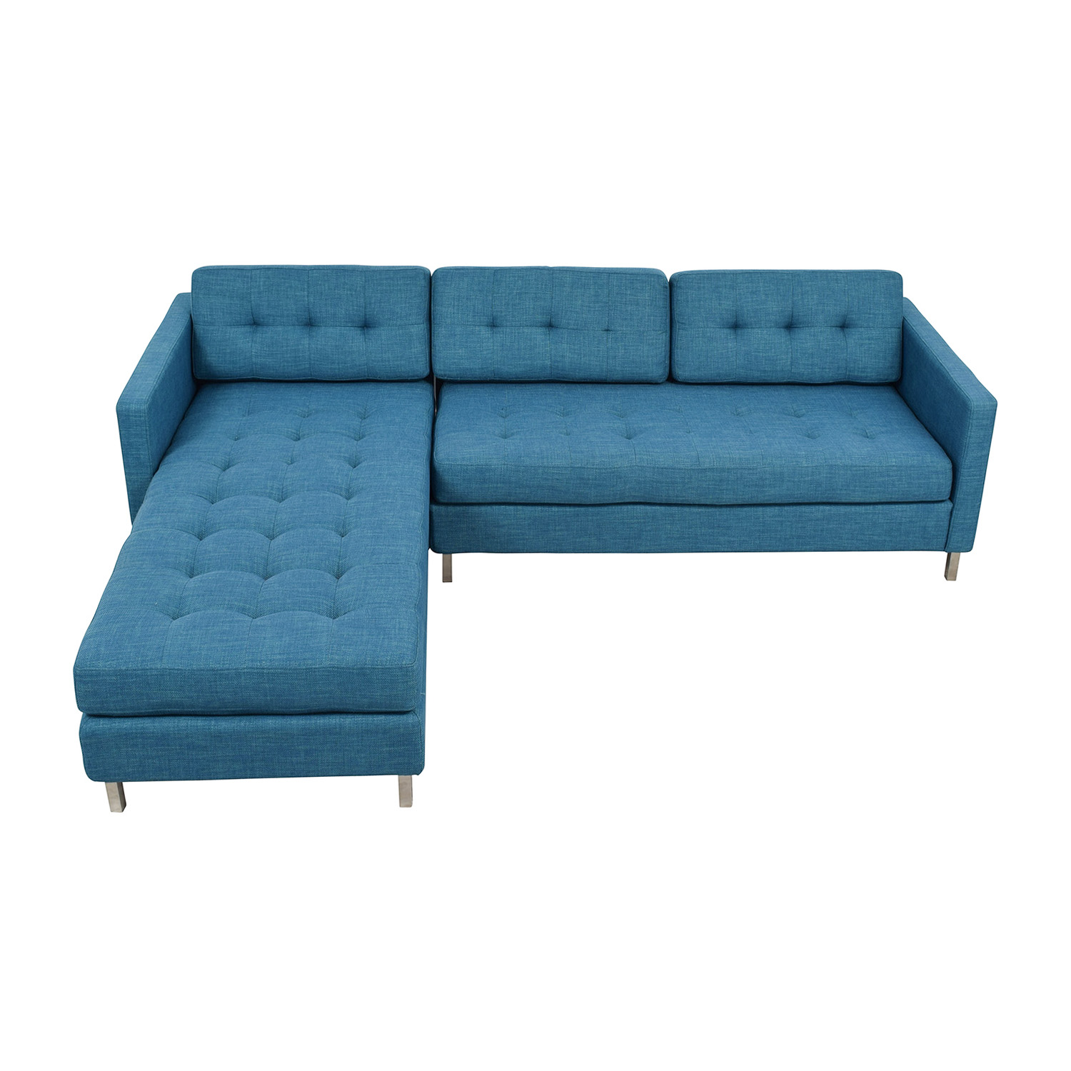 CB2 CB2 Ditto II Peacock Sectional Sofa on sale
