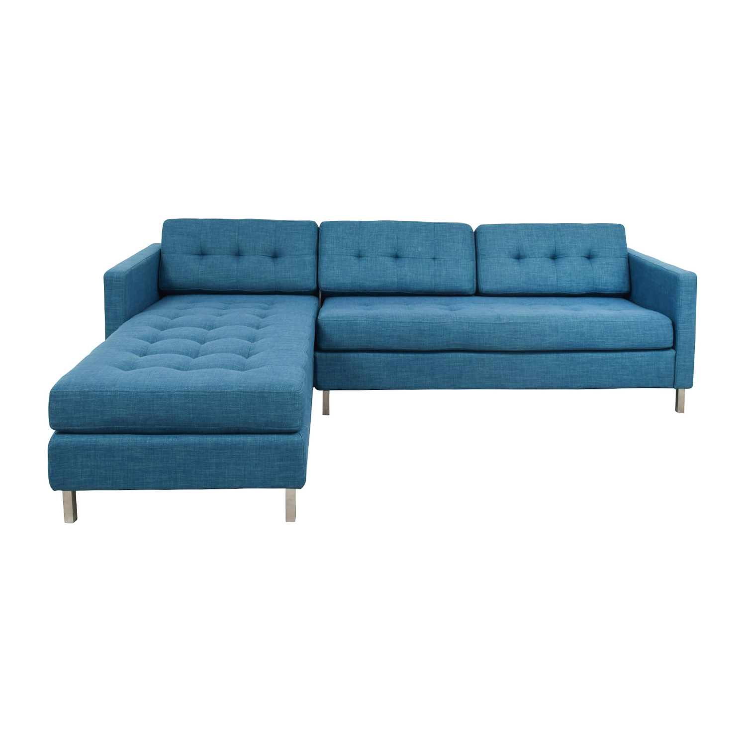 Amazing 33 Off Cb2 Cb2 Ditto Ii Peacock Sectional Sofa Sofas Pdpeps Interior Chair Design Pdpepsorg
