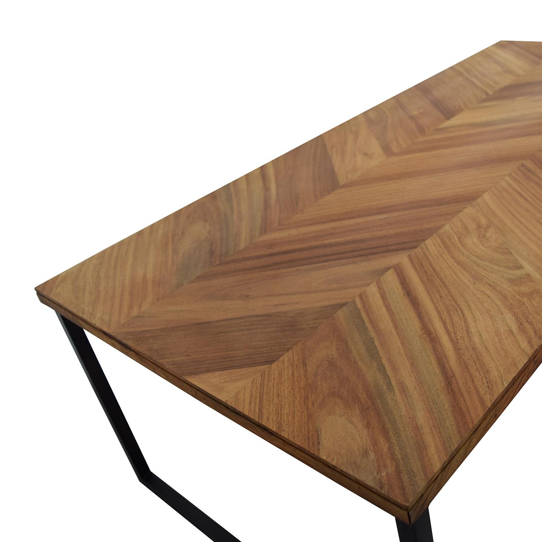 "34% OFF CB2 CB2 Chevron 48"" Coffee Table Tables"