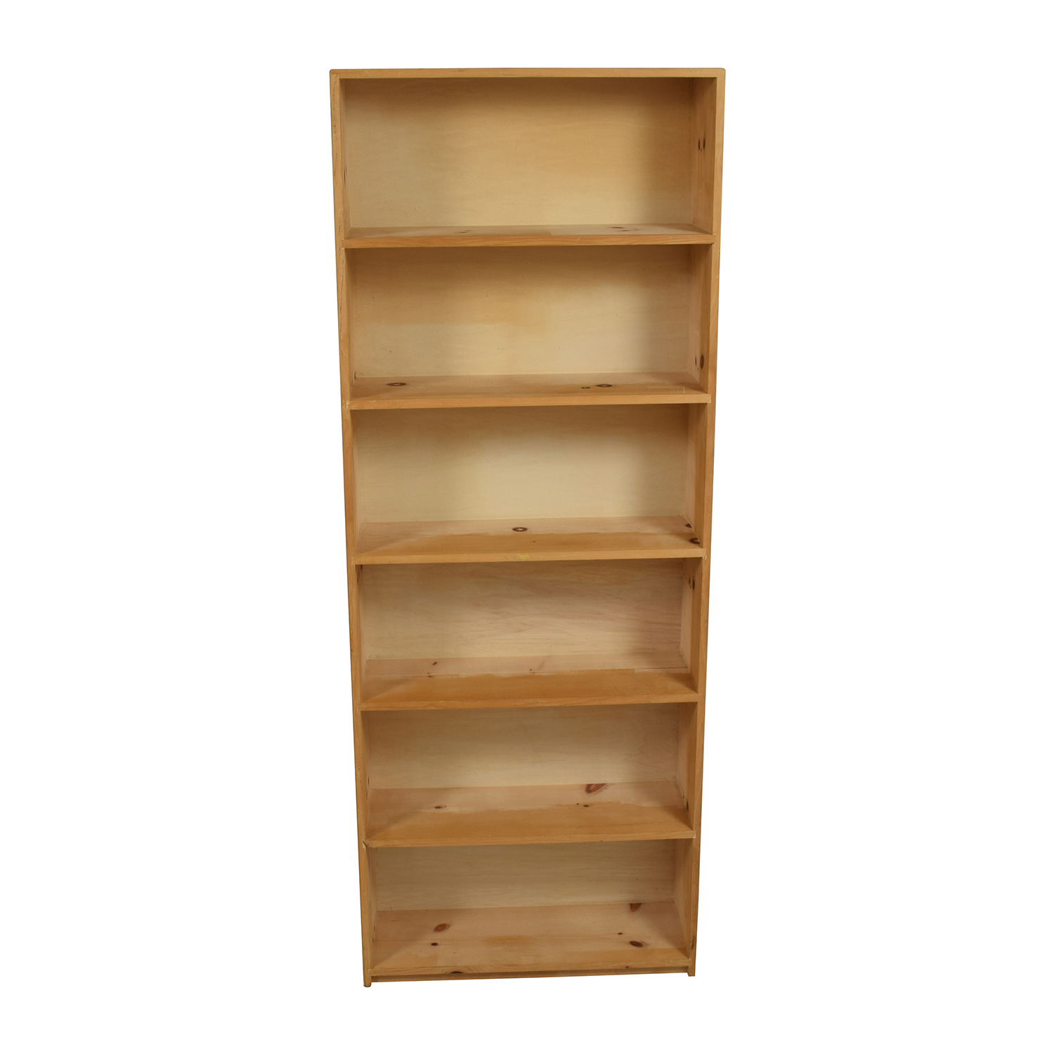 Custom Tall Wooden Six-Shelf Bookcase price