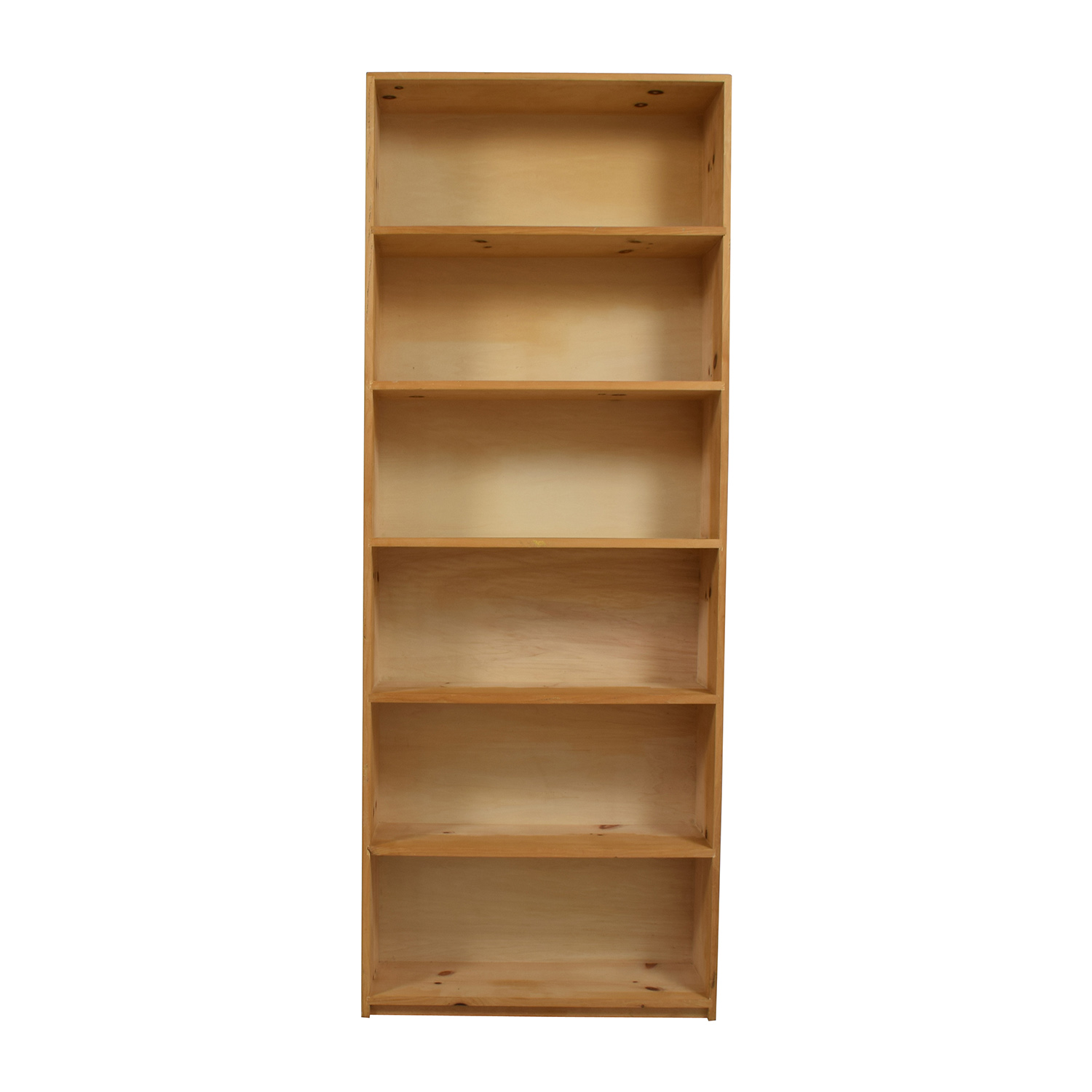 Tall Wooden Six-Shelf Bookcase sale