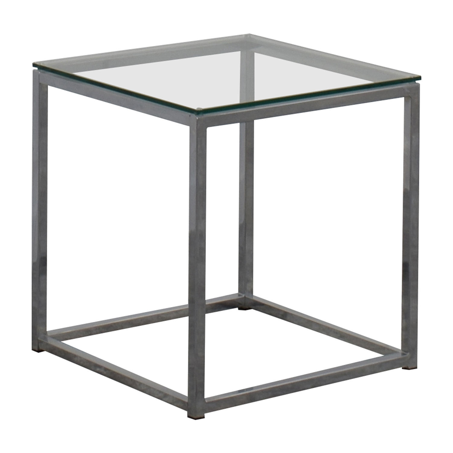 80 off cb2 cb2 smart glass top side table tables for Glass top side table